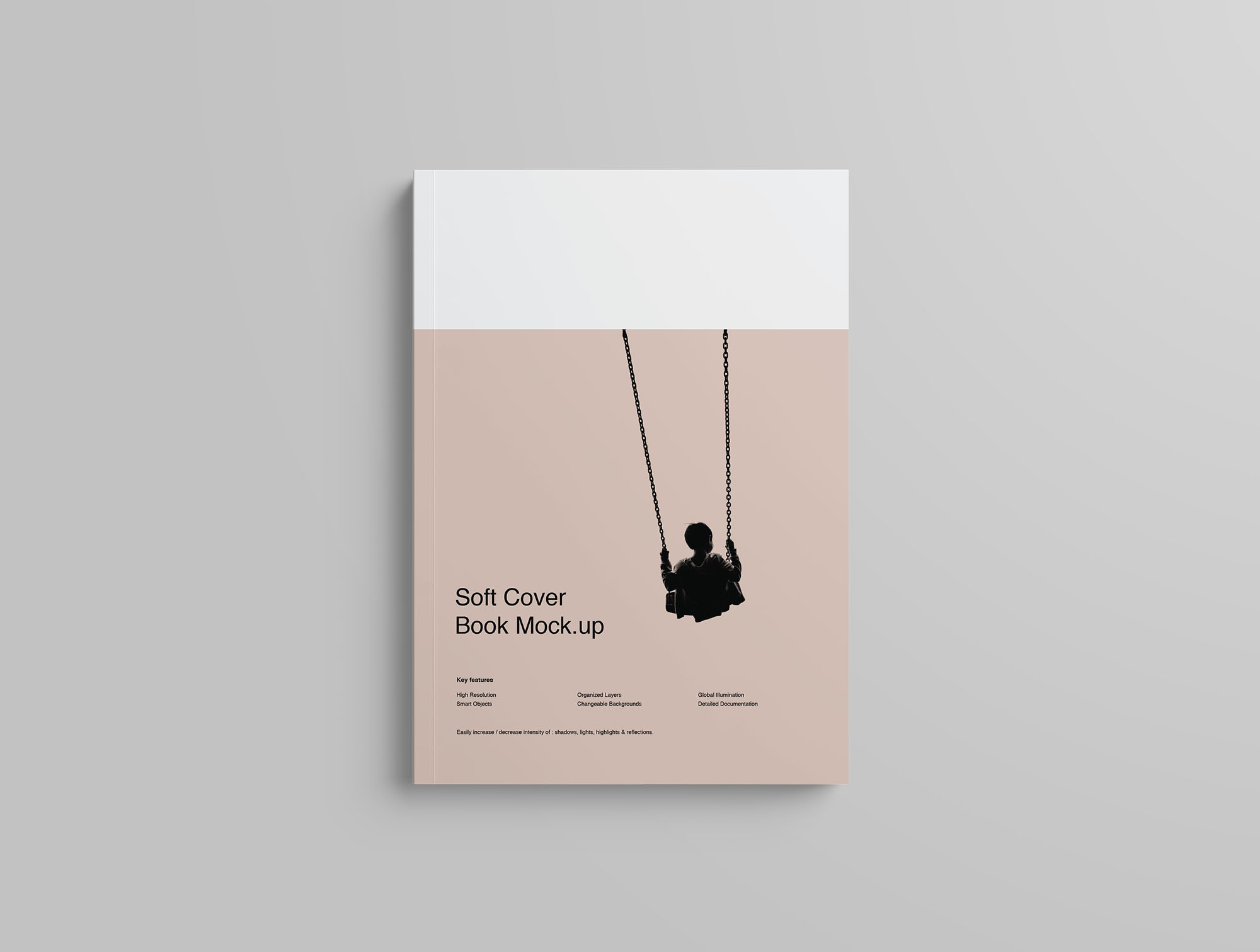 Softcover Book Mockup - Overhead
