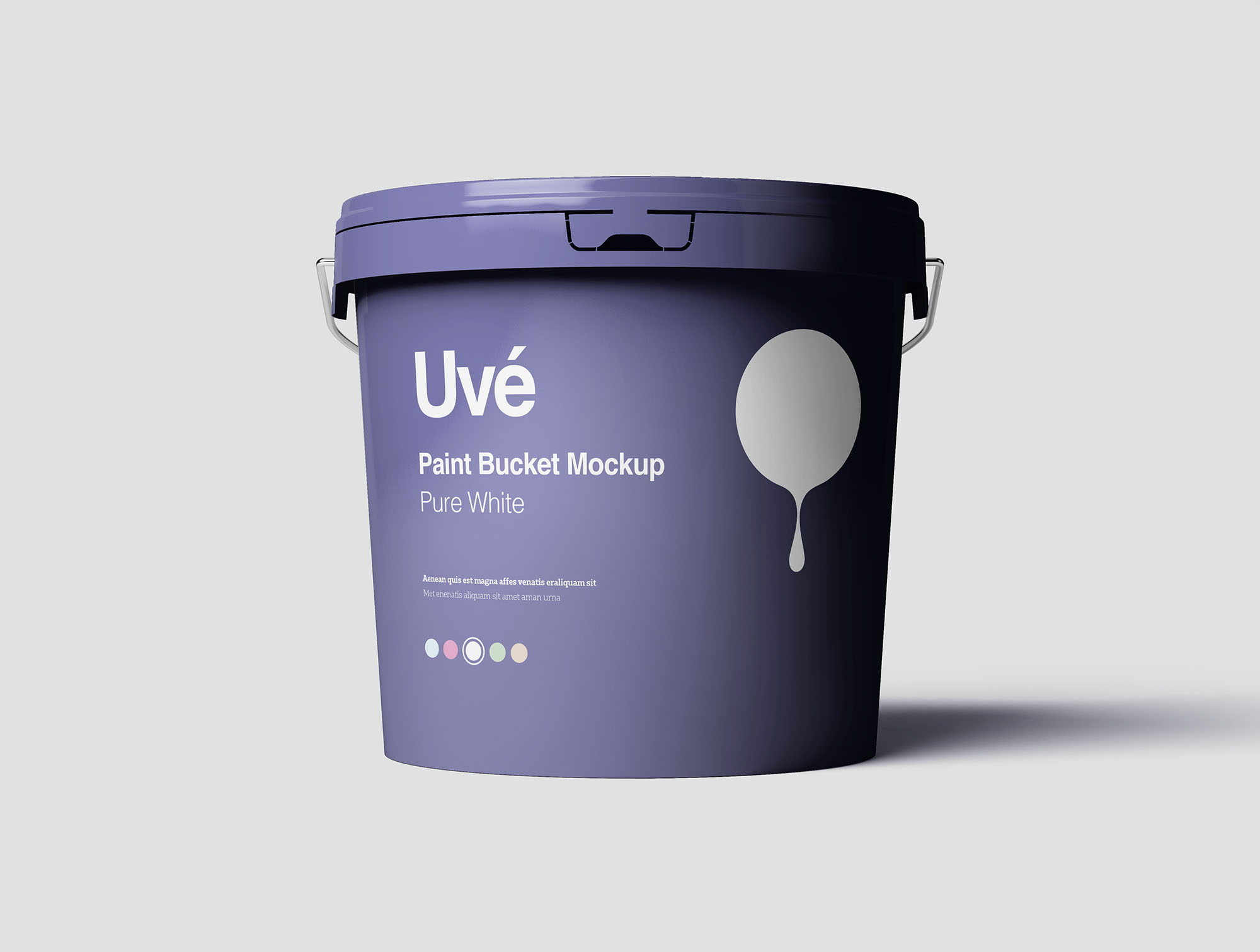 Plastic Paint Bucket Mockup