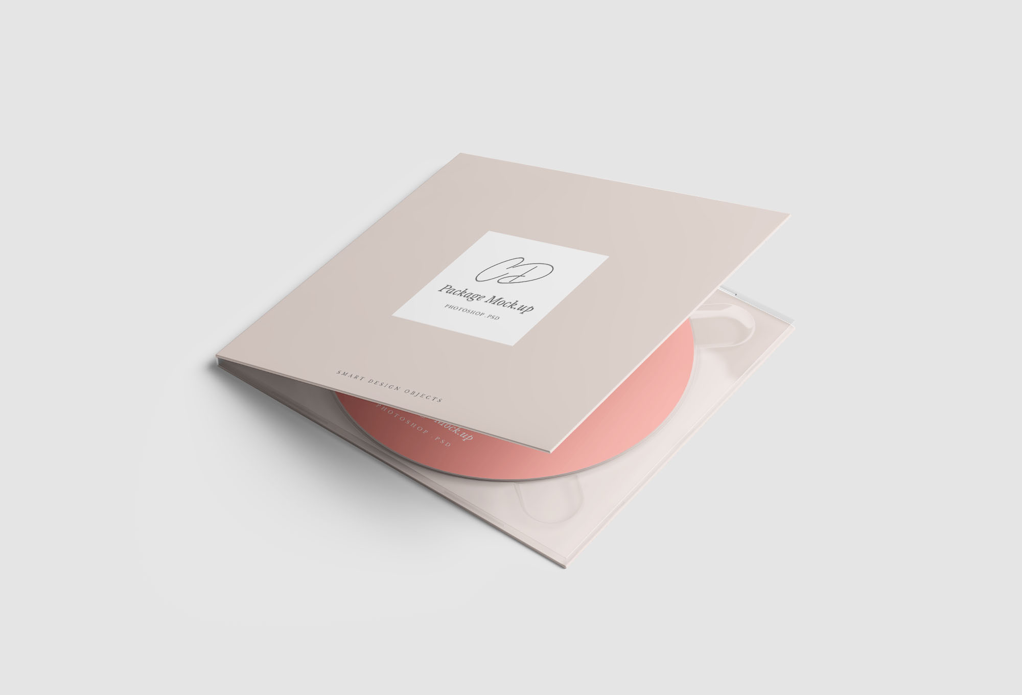 CD Case Package Mockup
