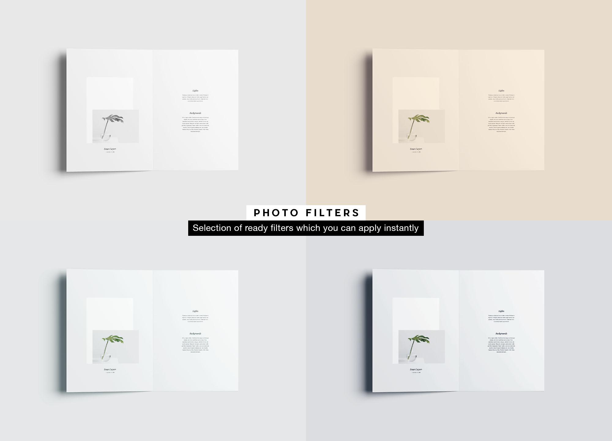Bifold Brochure Mockup - Filters