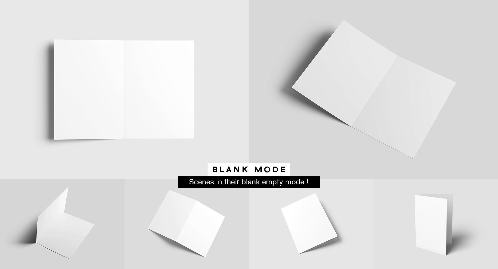 Bifold Brochure Mockup - White