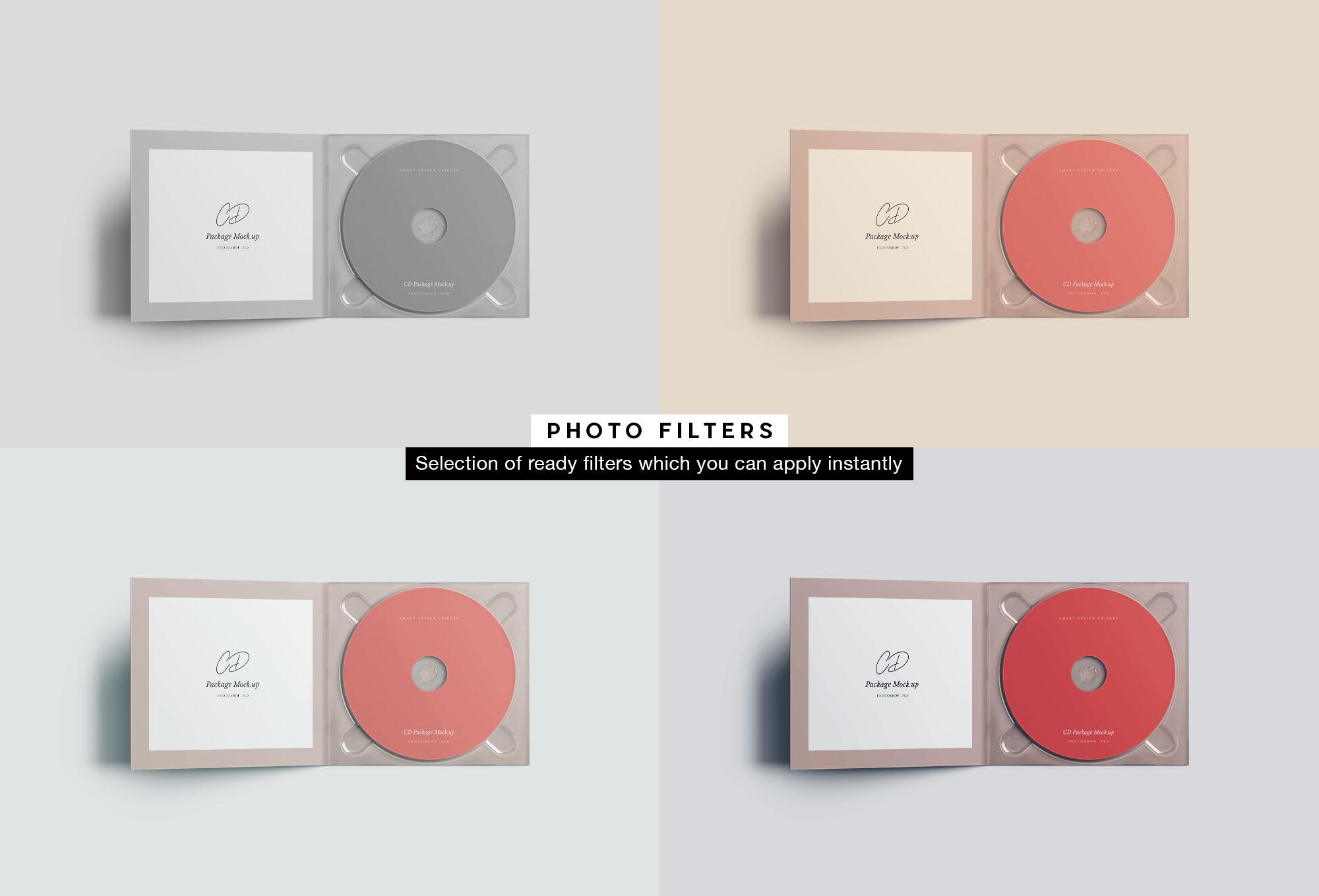 CD Case Mockup - Filters