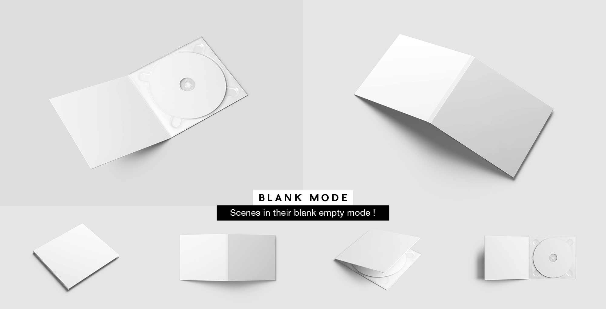 CD Case Mockup - White