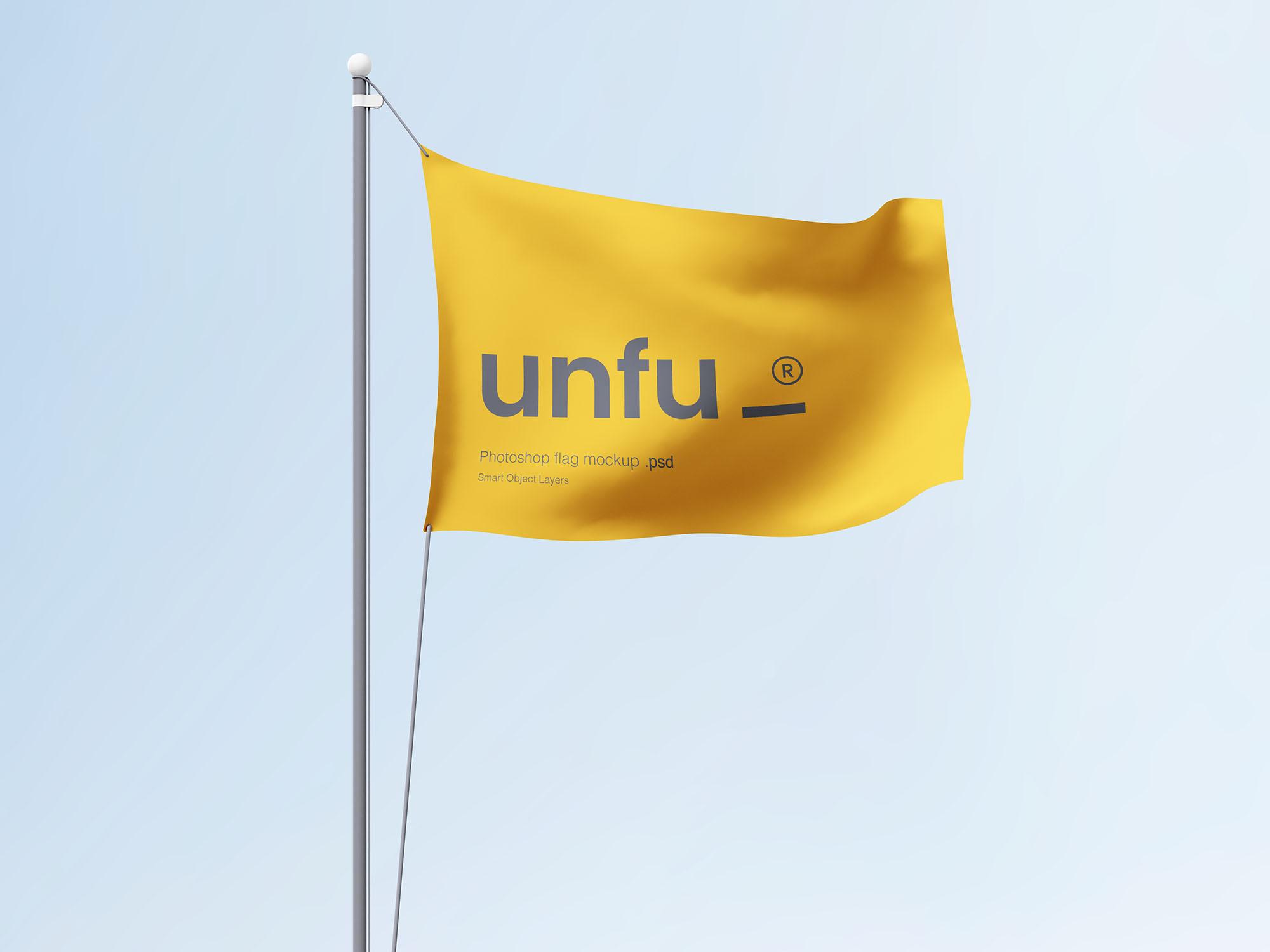 Simple Flag Mockup