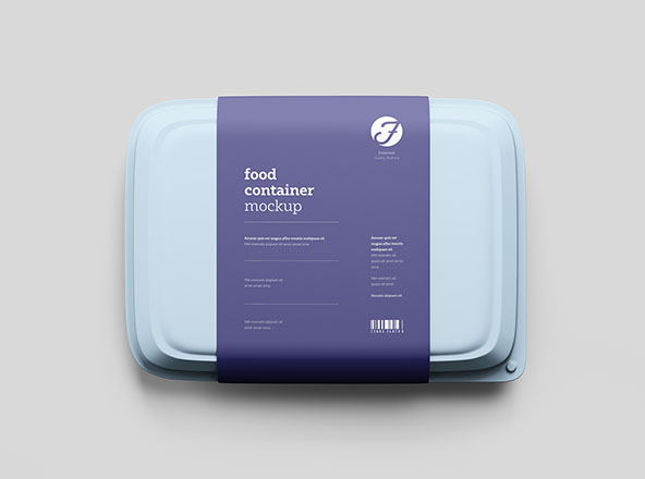 Food Box Mockup PSD