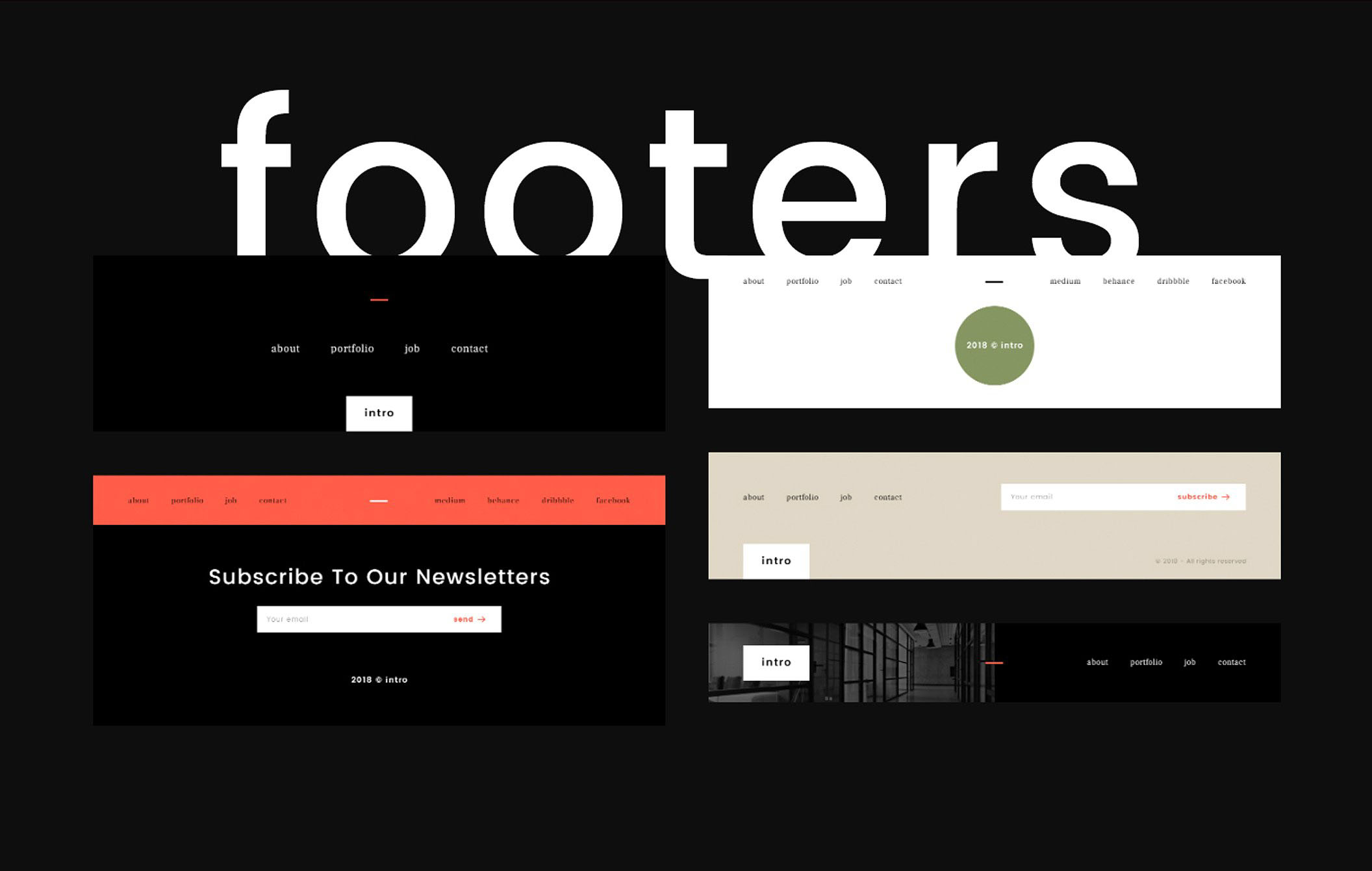 Intro Ui Kit Footer