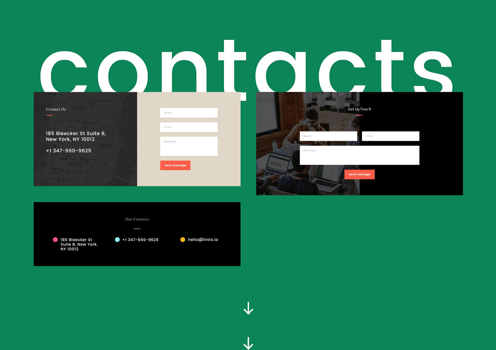 Intro Ui Kit - Contacts