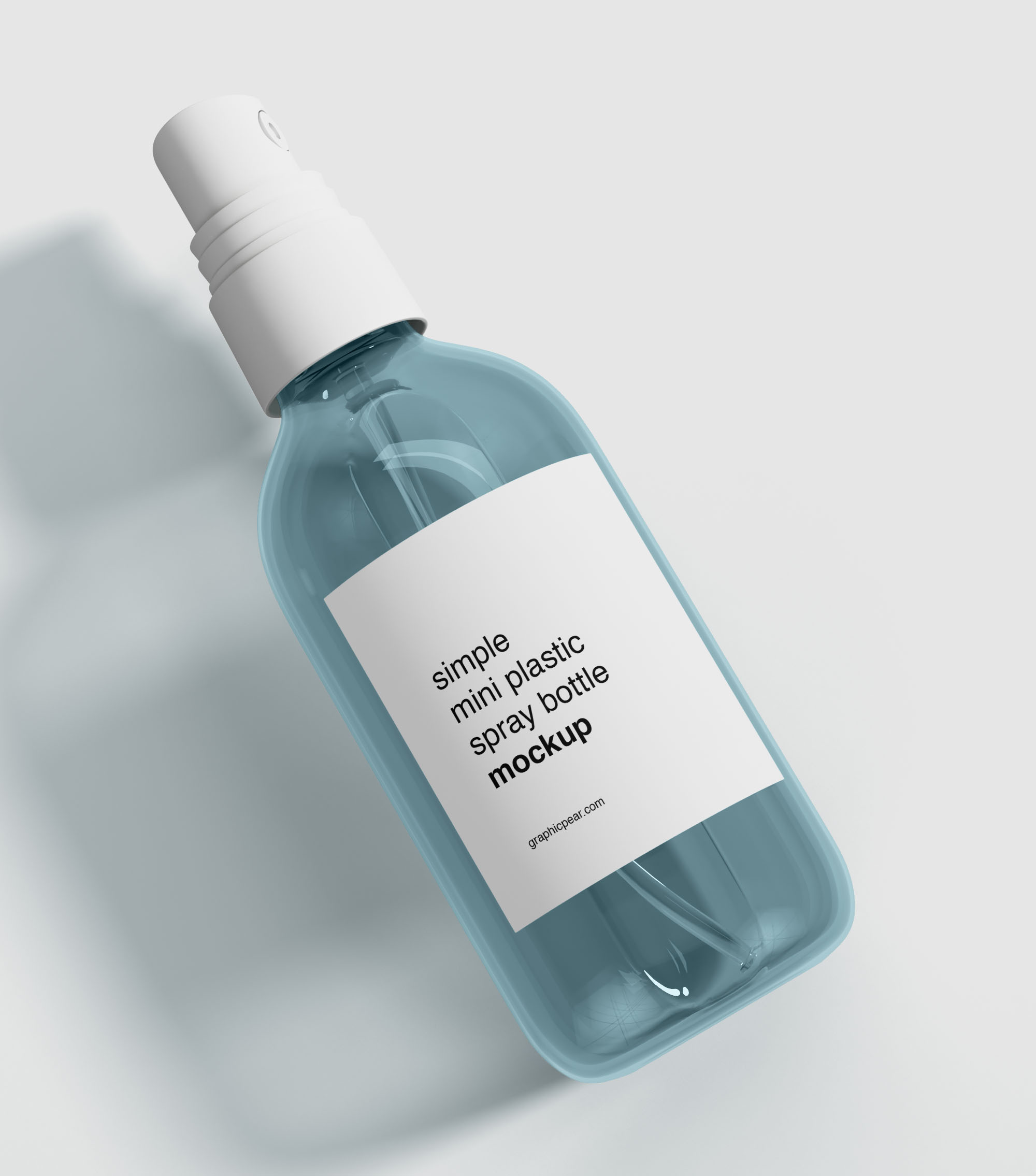 Mini Plastic Spray Bottle Mockup