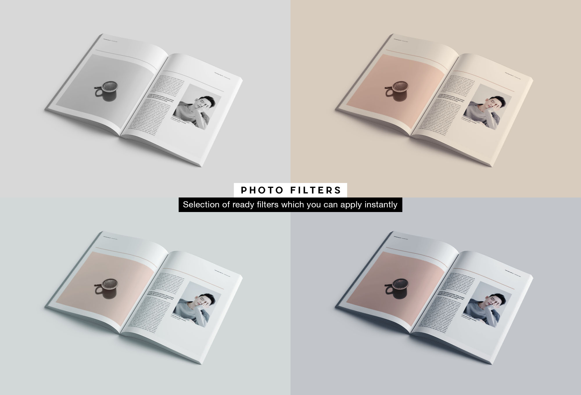 Softcover Book Mockup - Filters