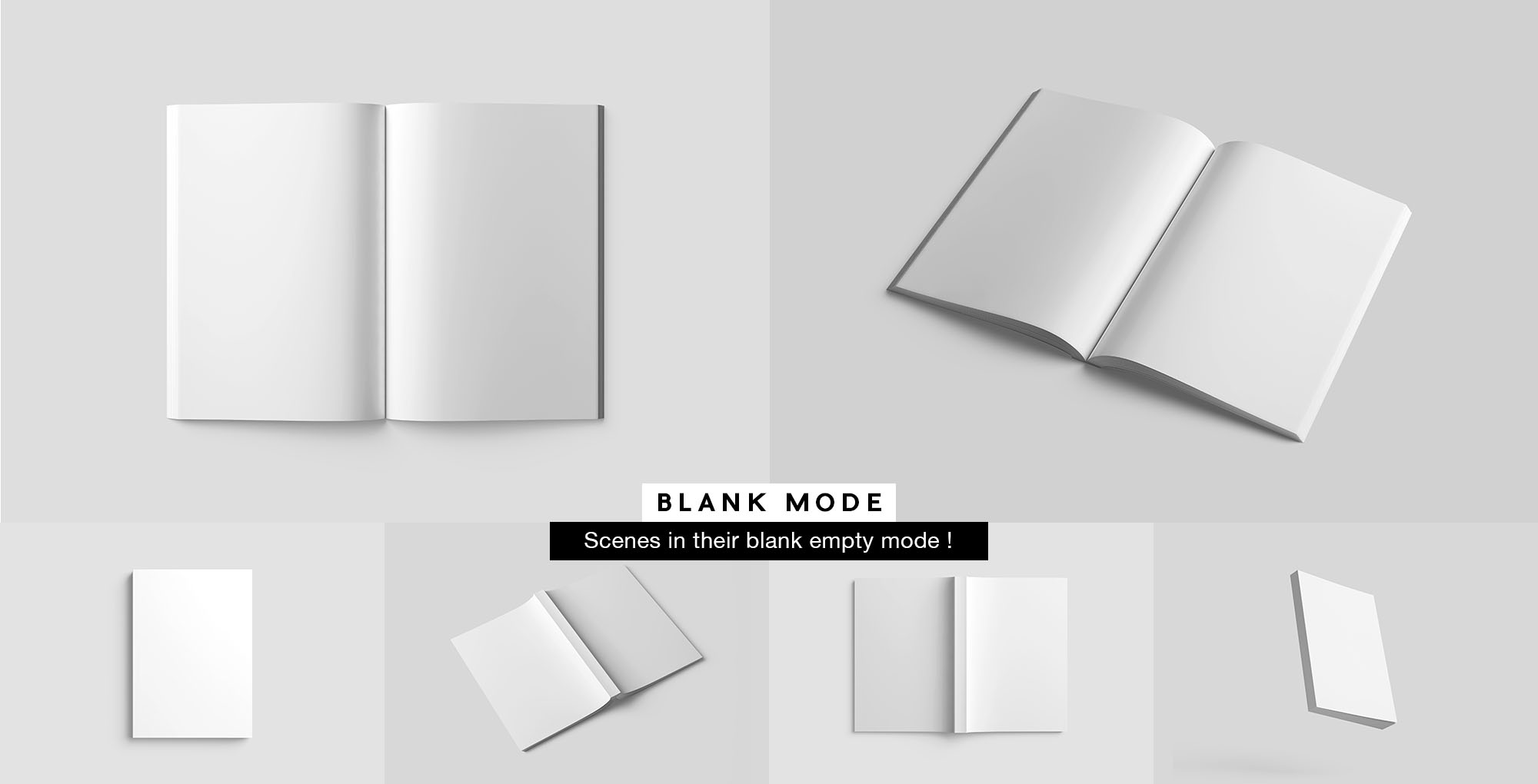 Softcover Book Mockup - White