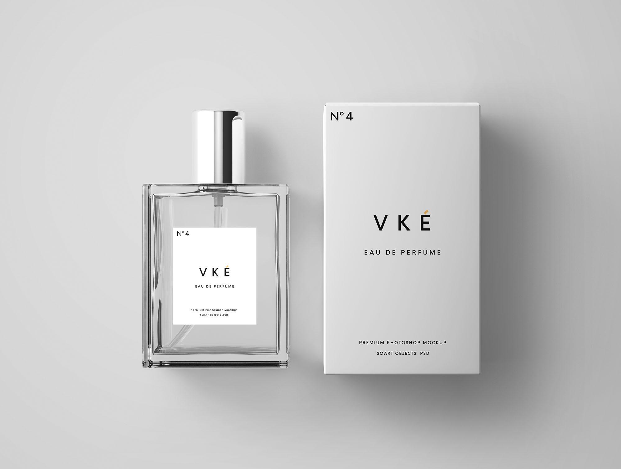 perfume package mockup