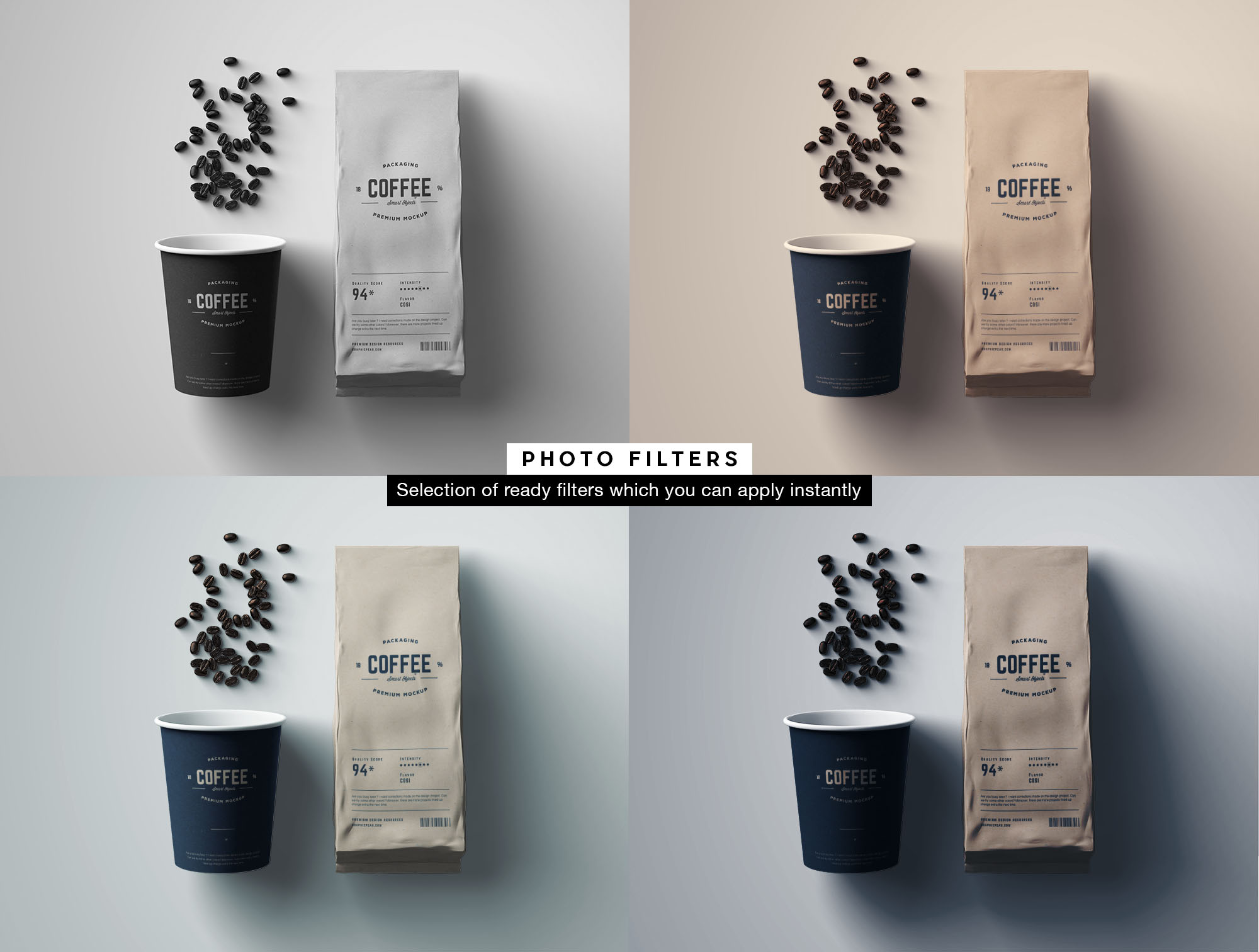 Coffee Package Mockup - Filters
