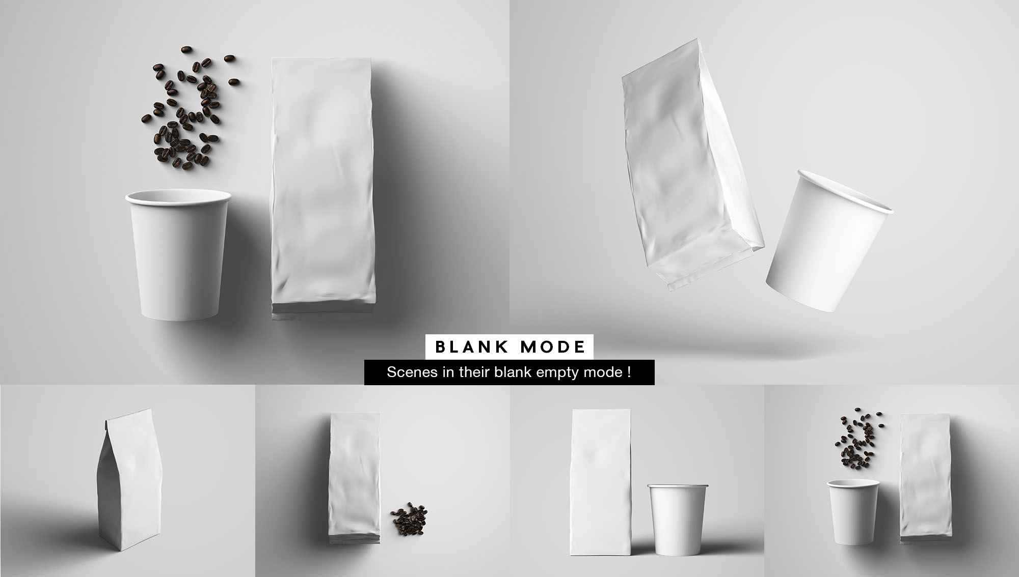 Coffee Package Mockup - White