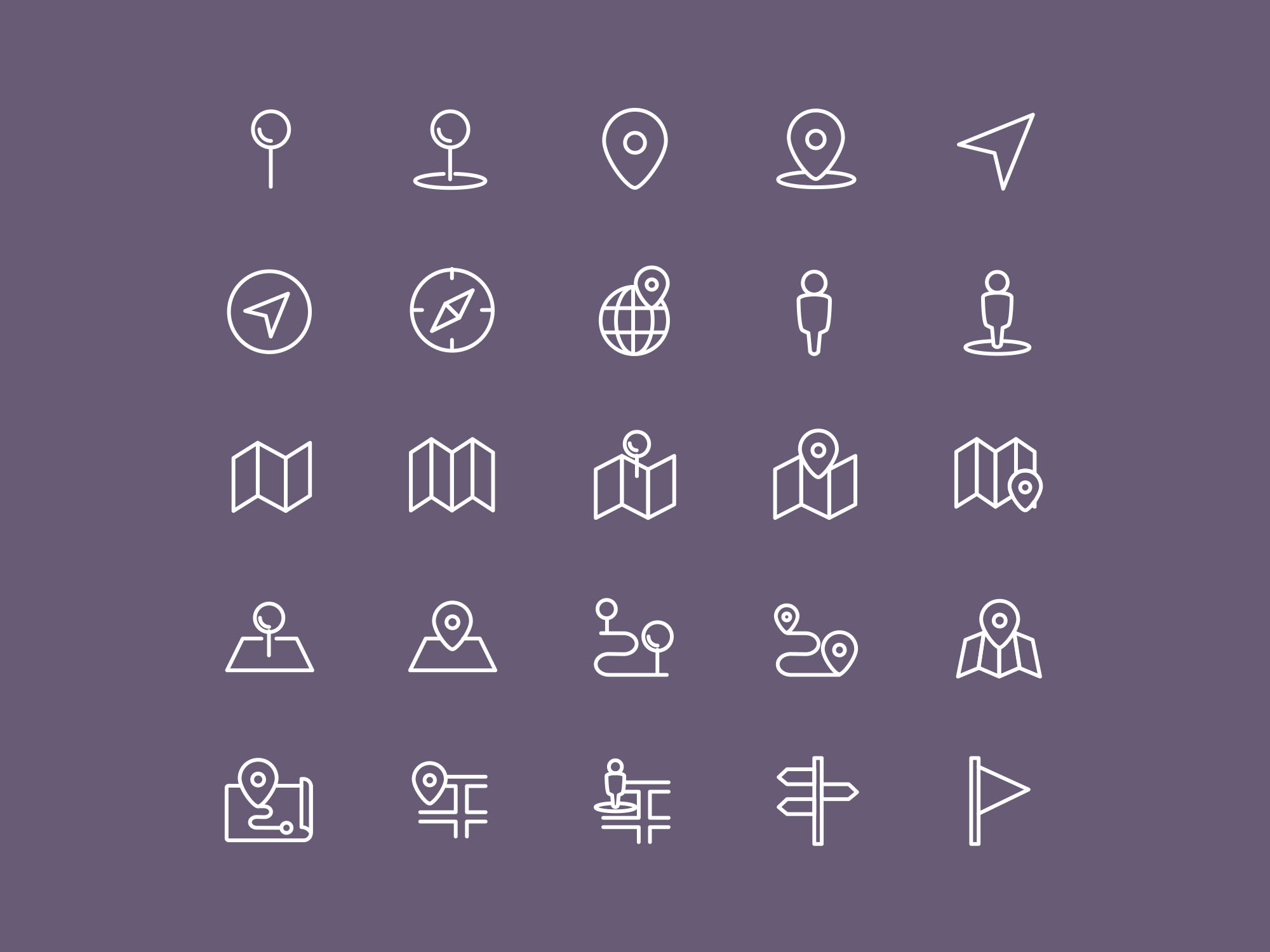 Map & Location Icons