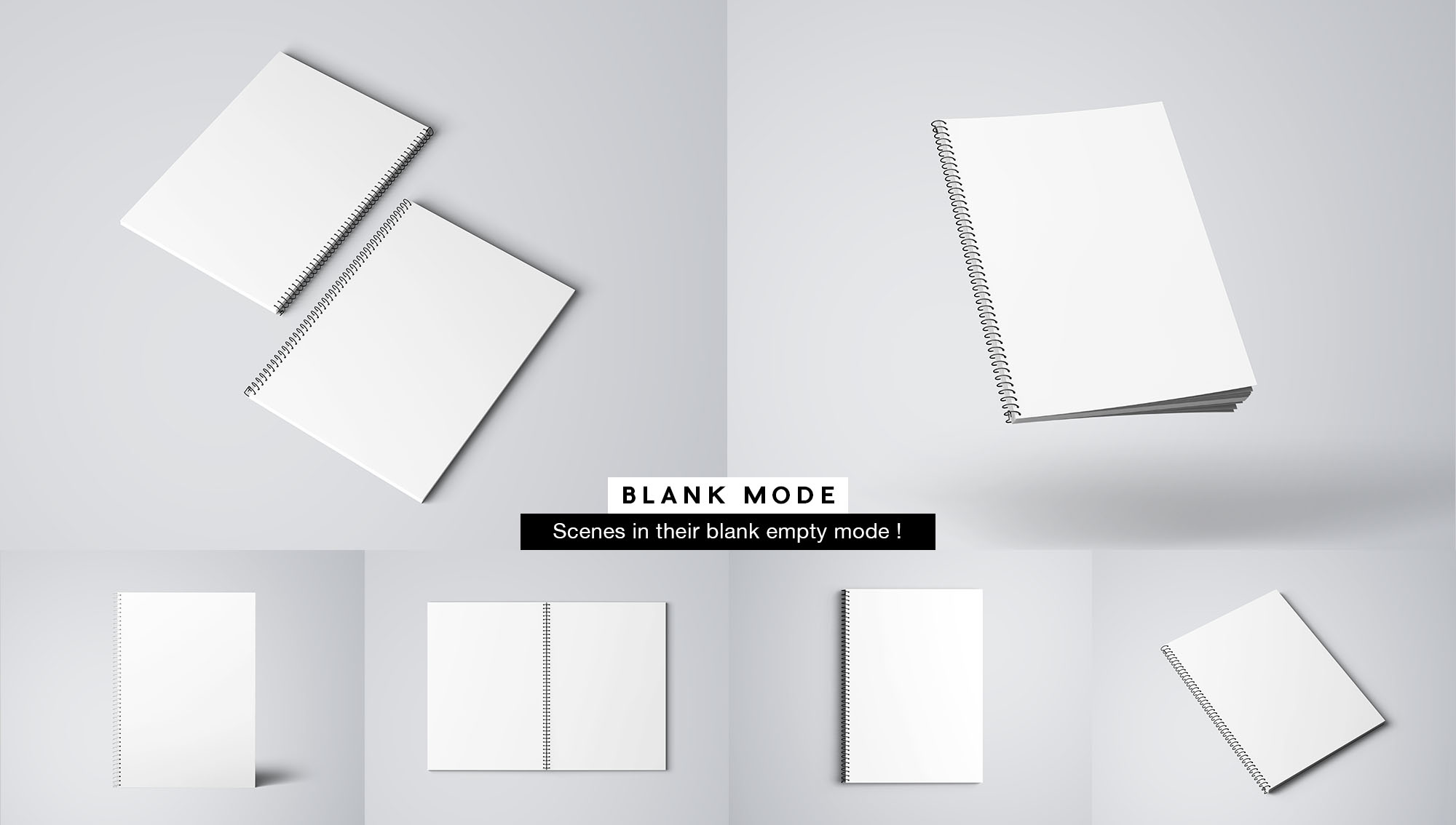 Notebook Mockup - White