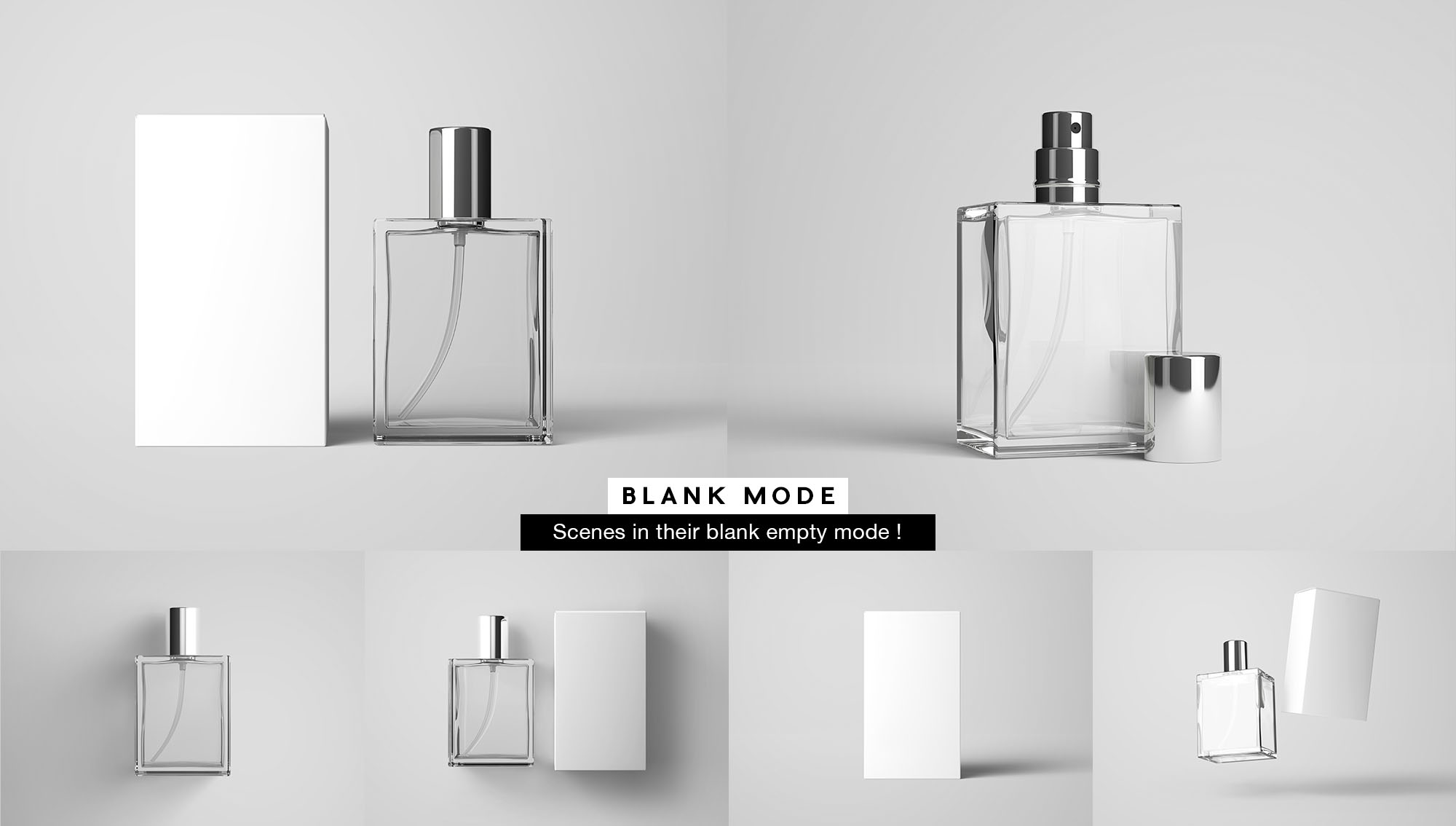 Perfume Mockup - Plain White