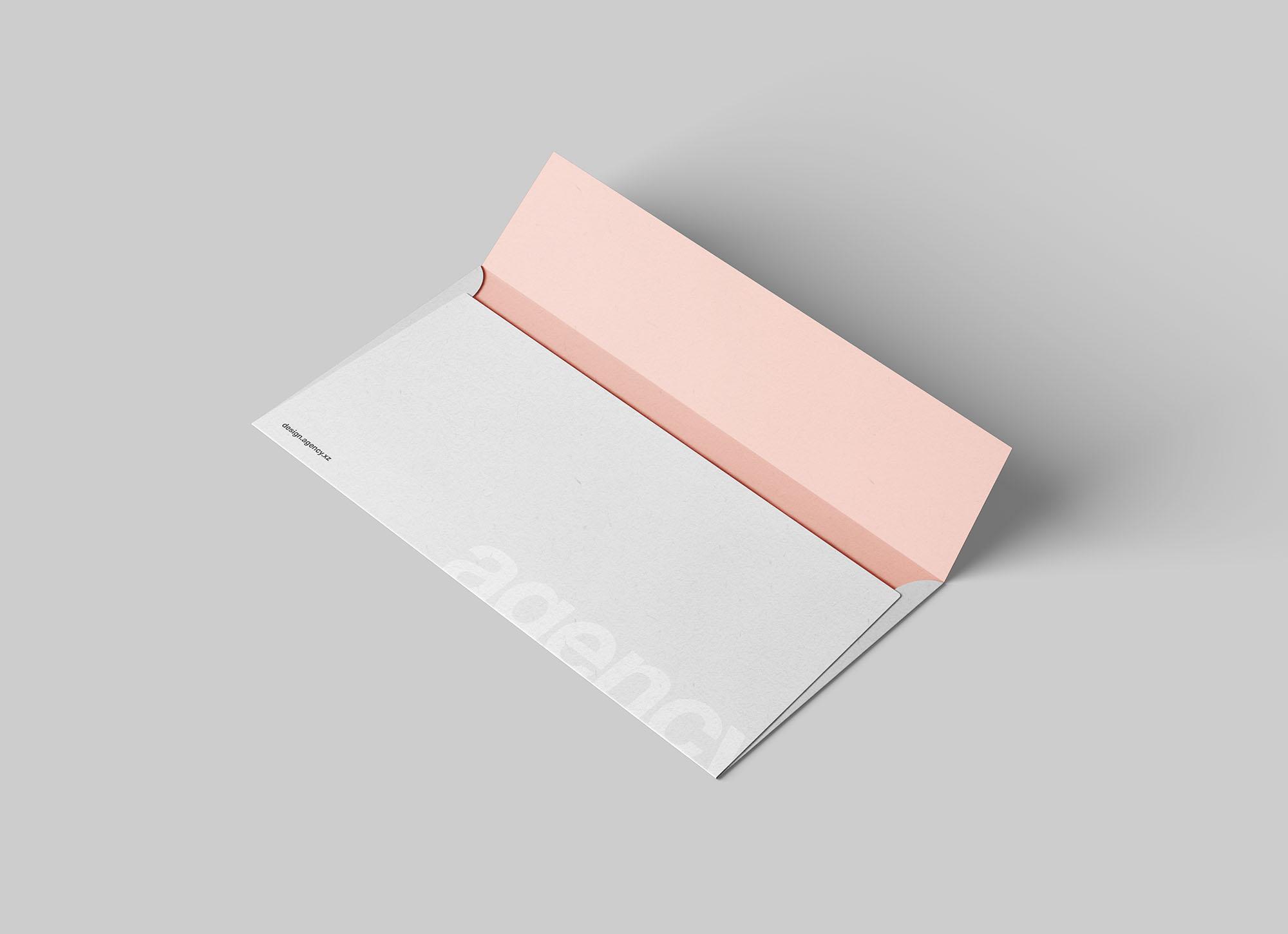 Opened DL Envelope Mockup