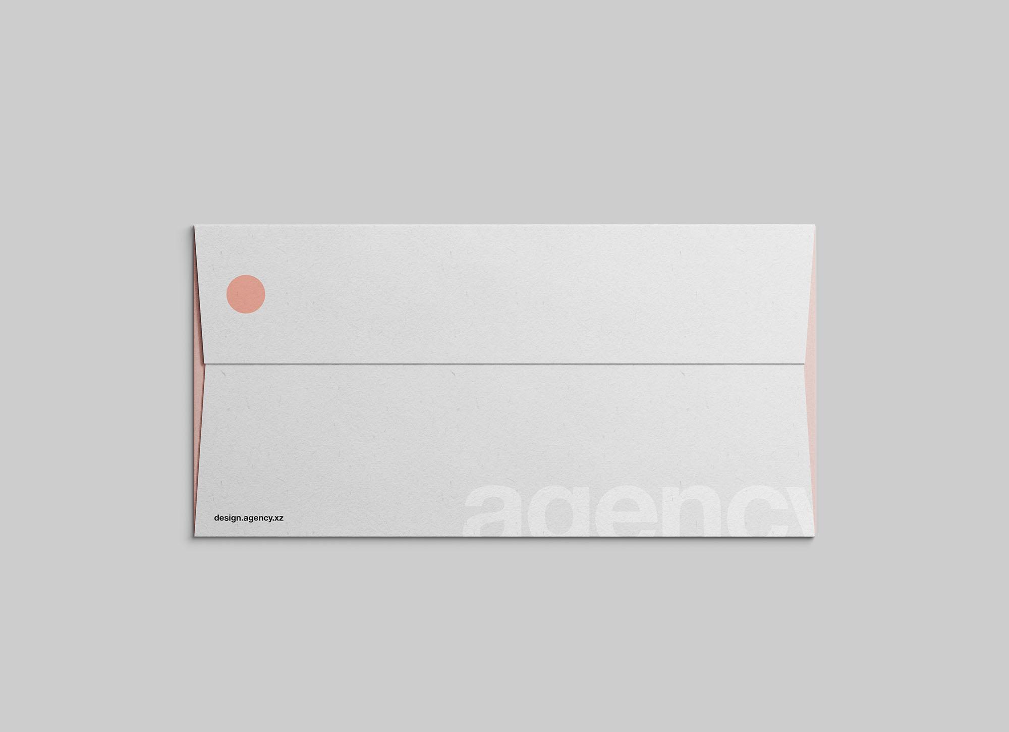 Flat DL Envelope Mockup