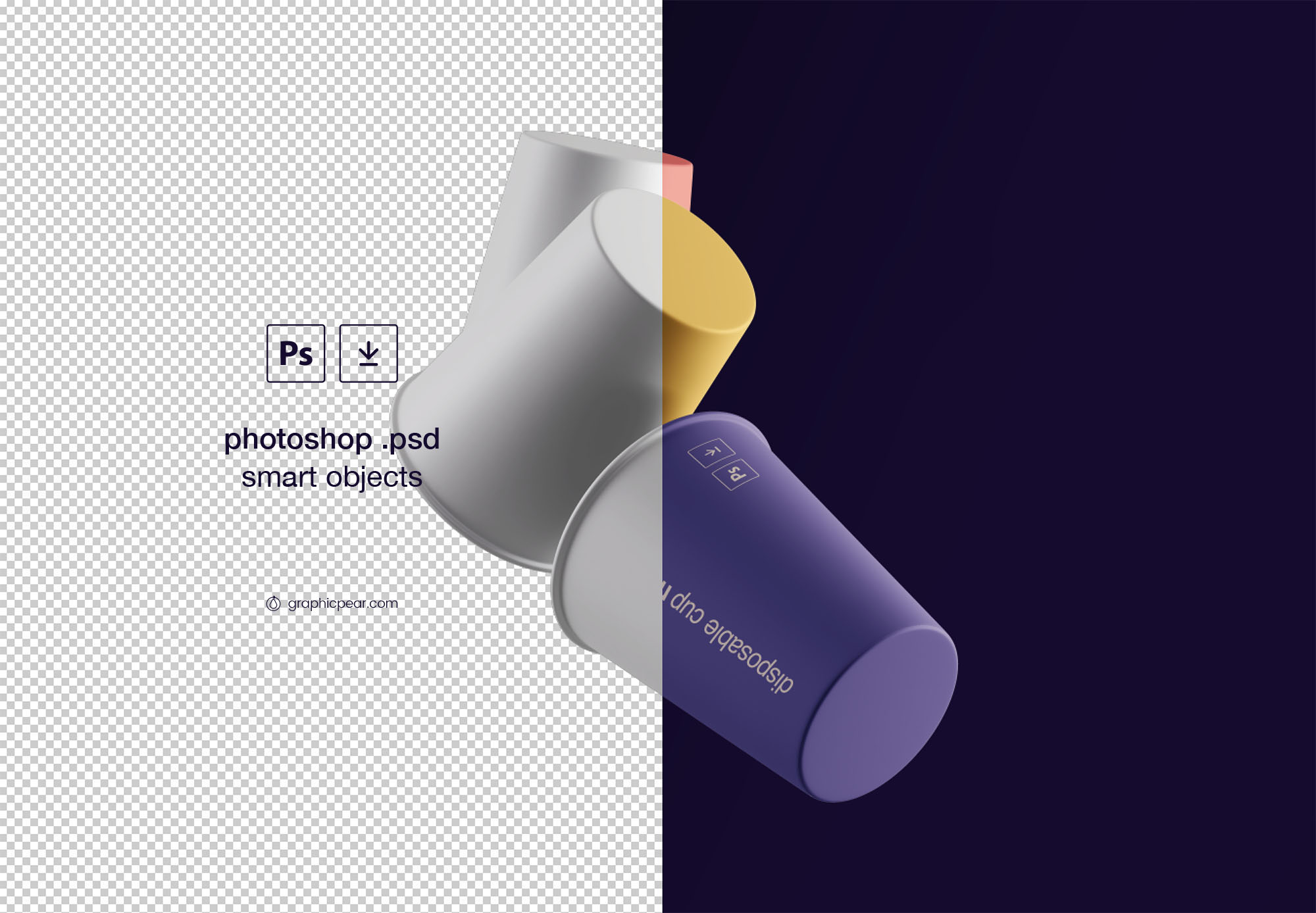 PSD Cups Mockup