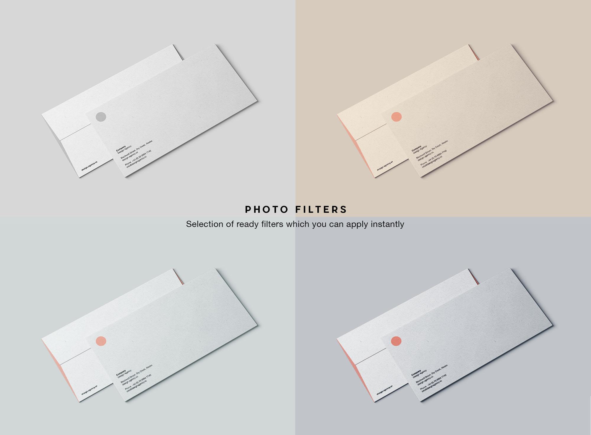 DL Envelope Mockup - Filters