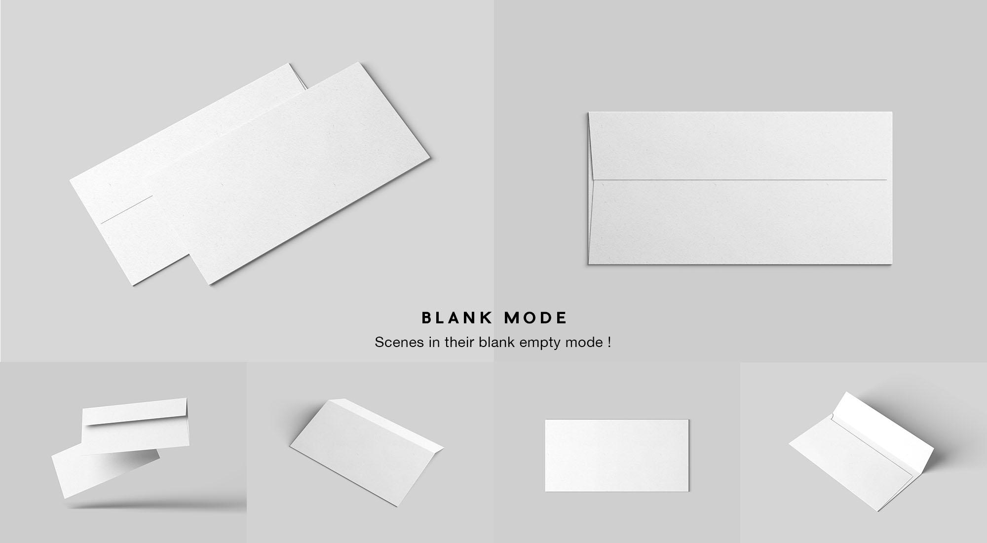 DL Envelope Mockup - White