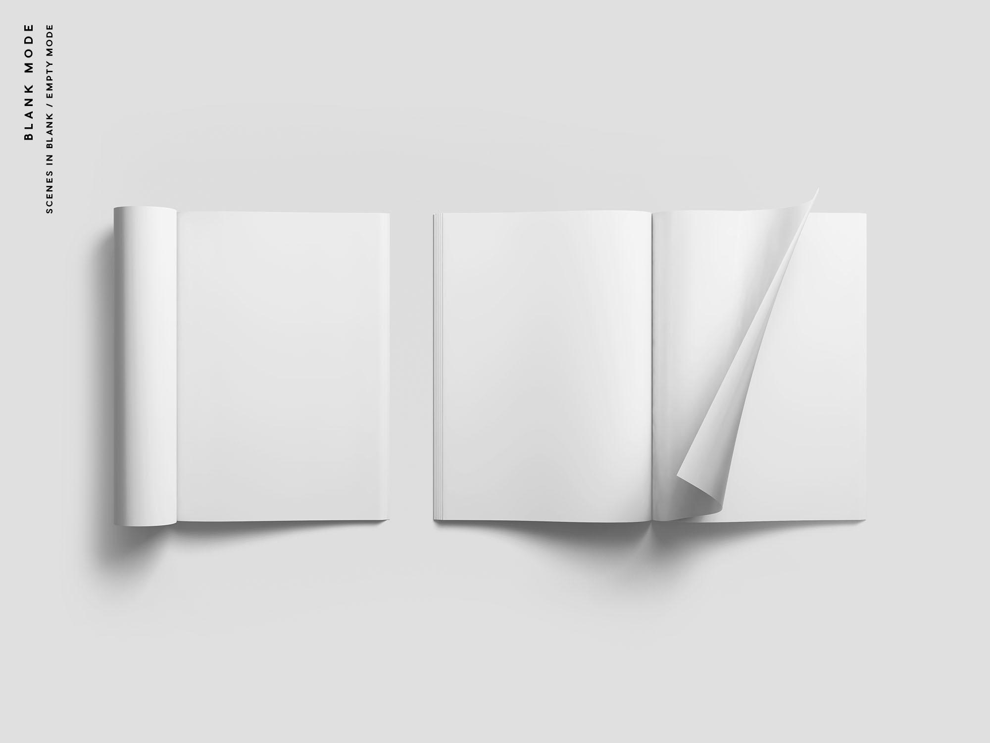 Magazine Mockup - Blank Mode
