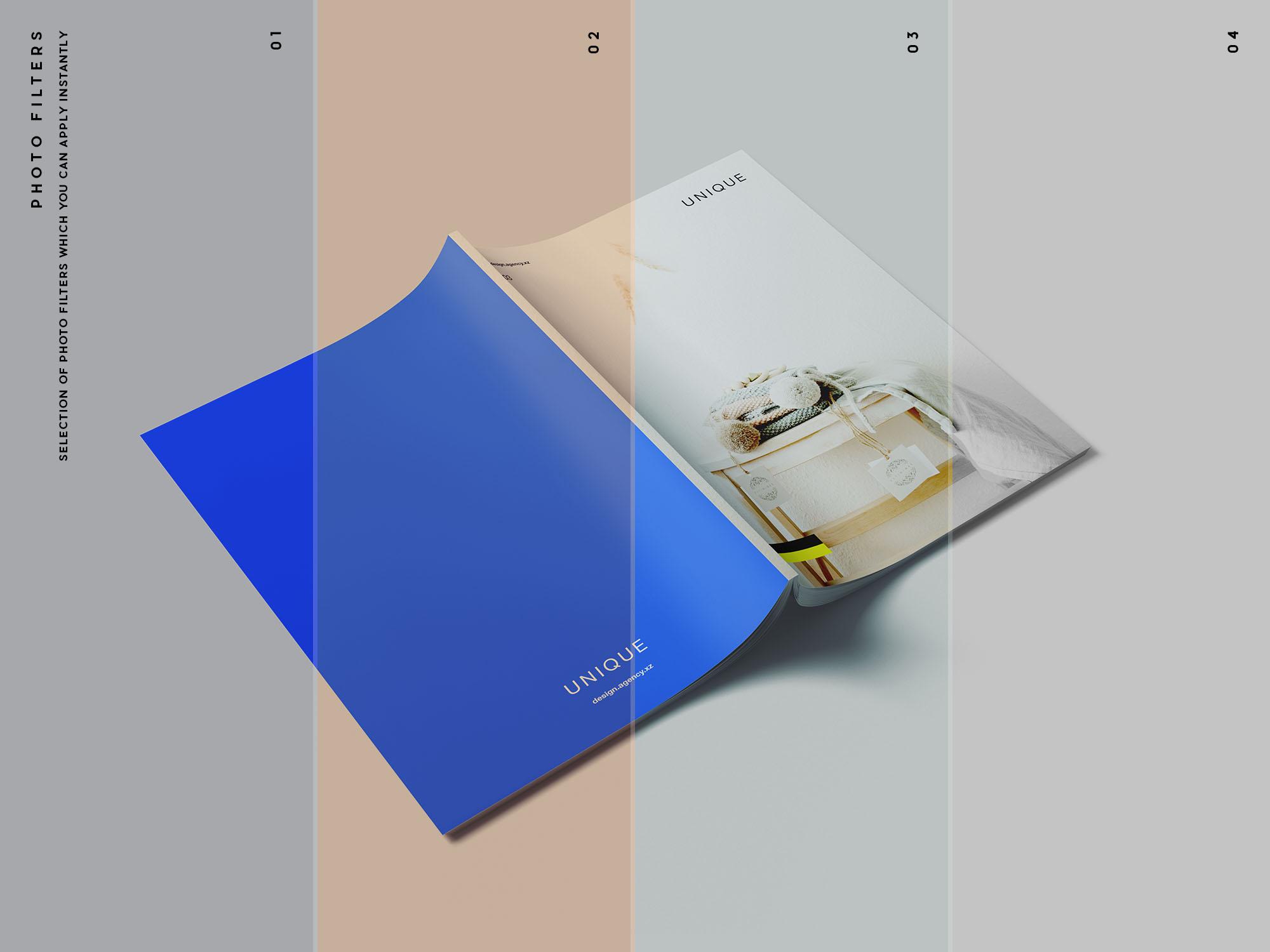 Magazine Mockup - Photo Filters