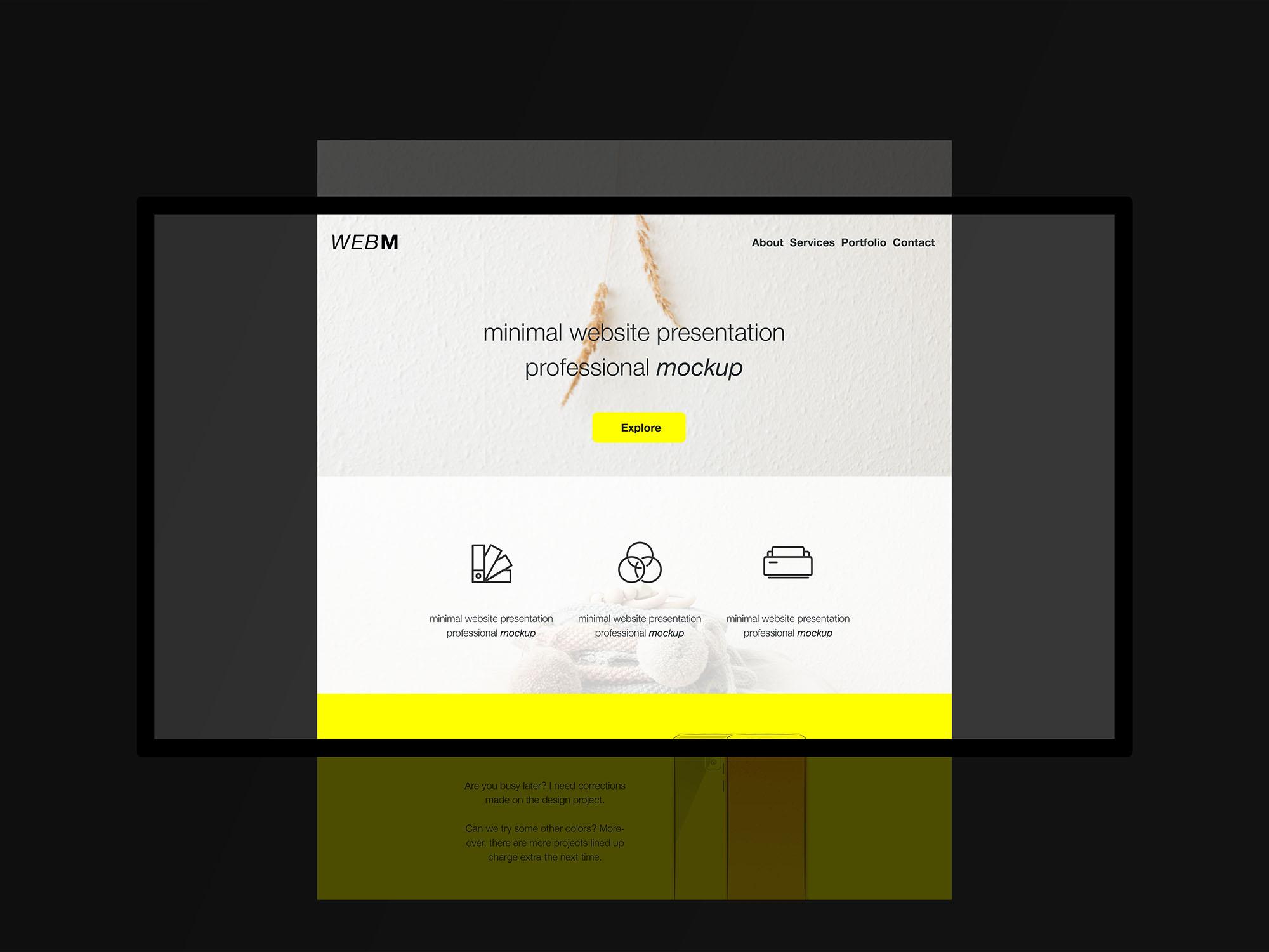 Dark Website Mockup