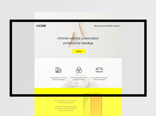 Minimal Flat Website Mockup