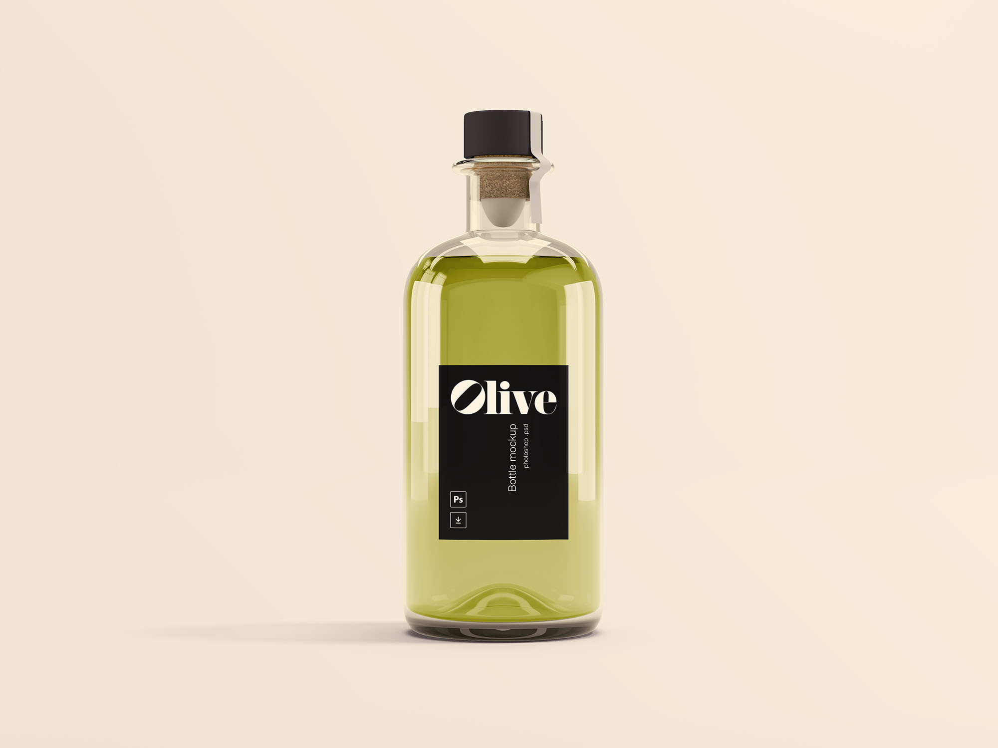 olive oil bottle mockup