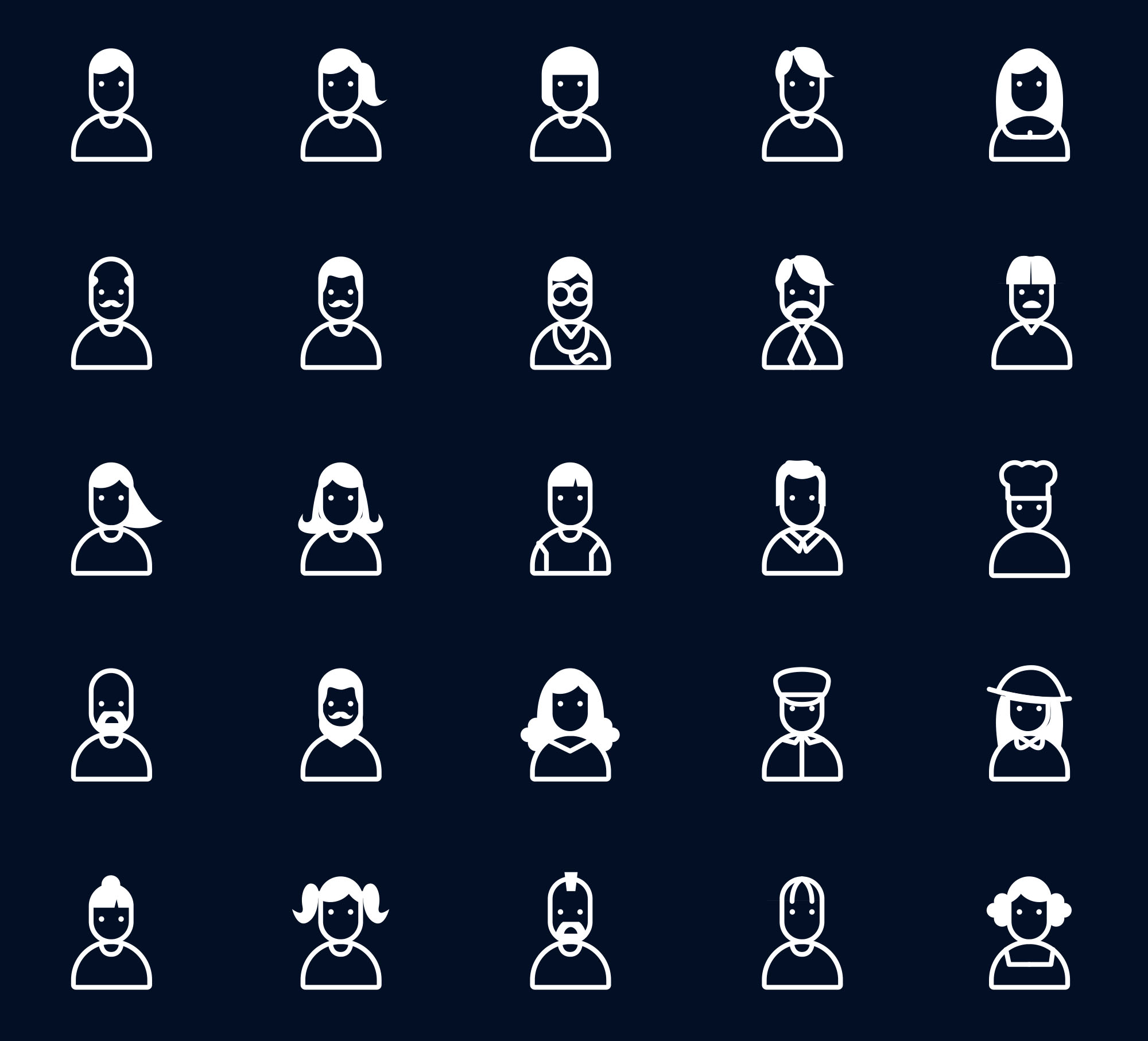 People and User Icons Colored