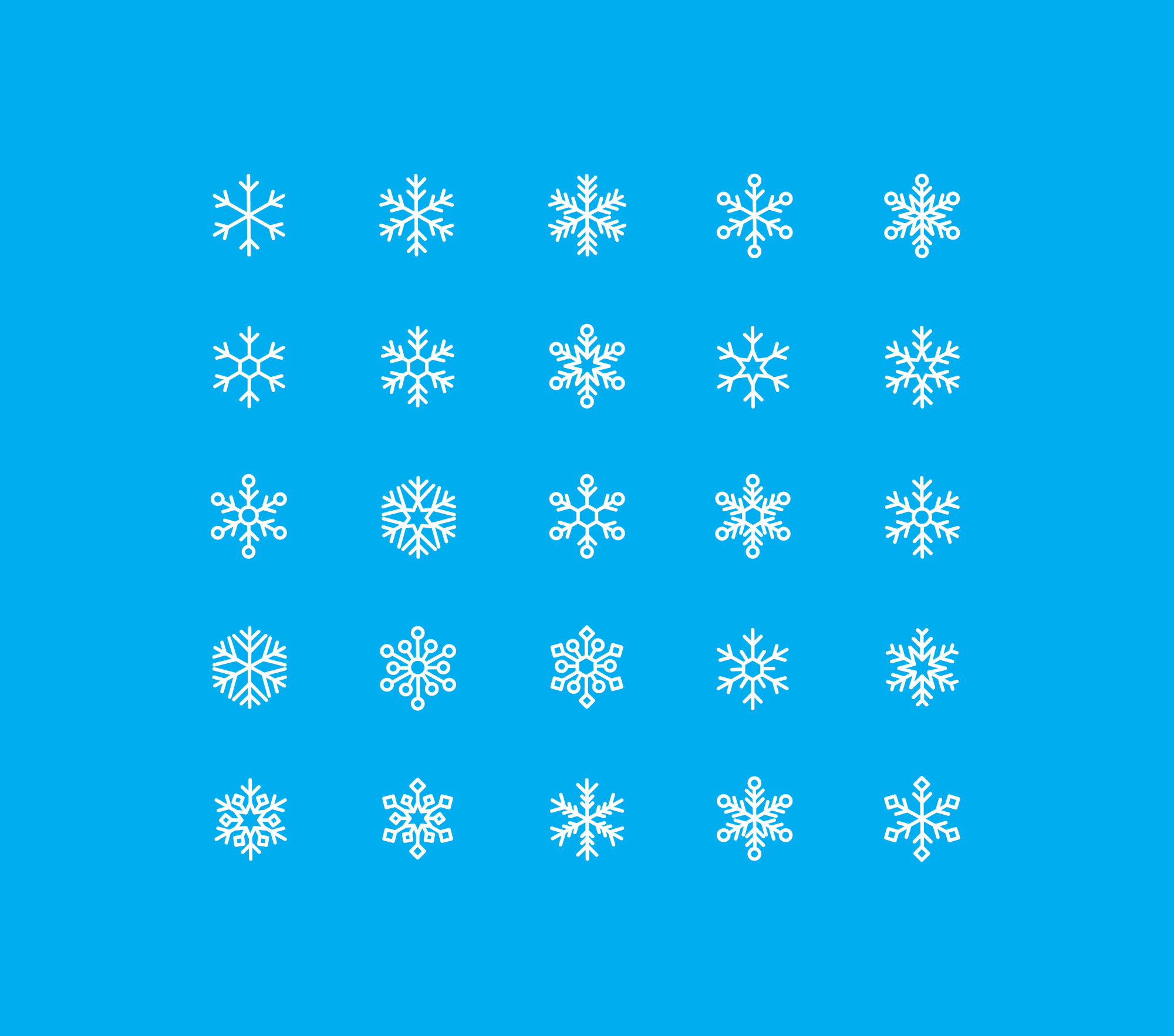 Snowflakes Vector Icons