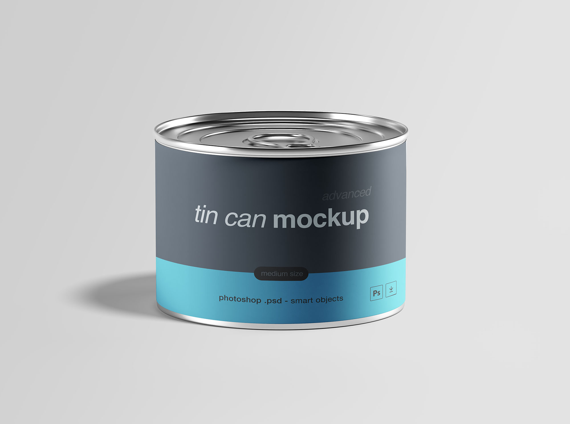 Tin Can Mockup PSD