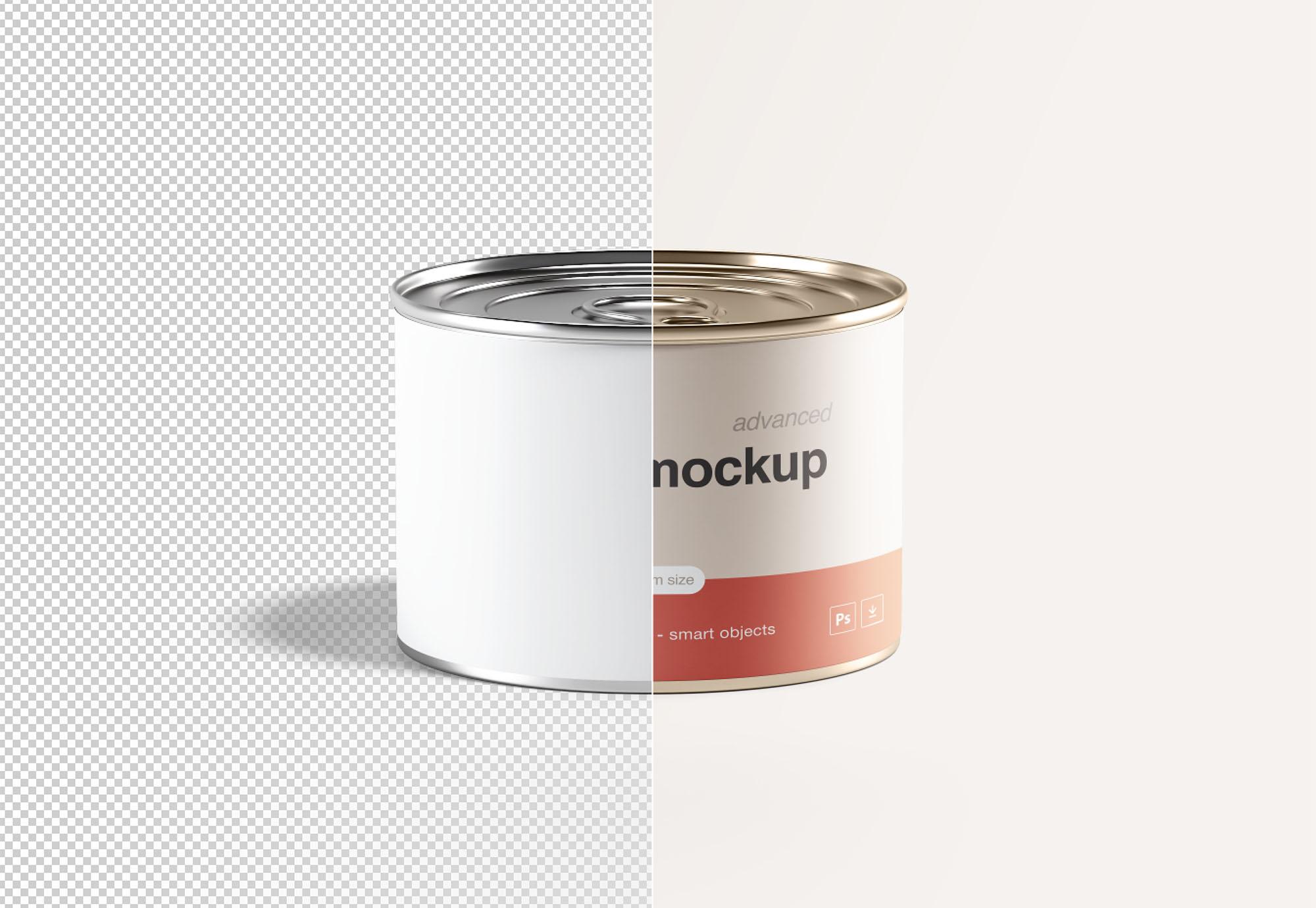 Tin Mockup PSD Mockup