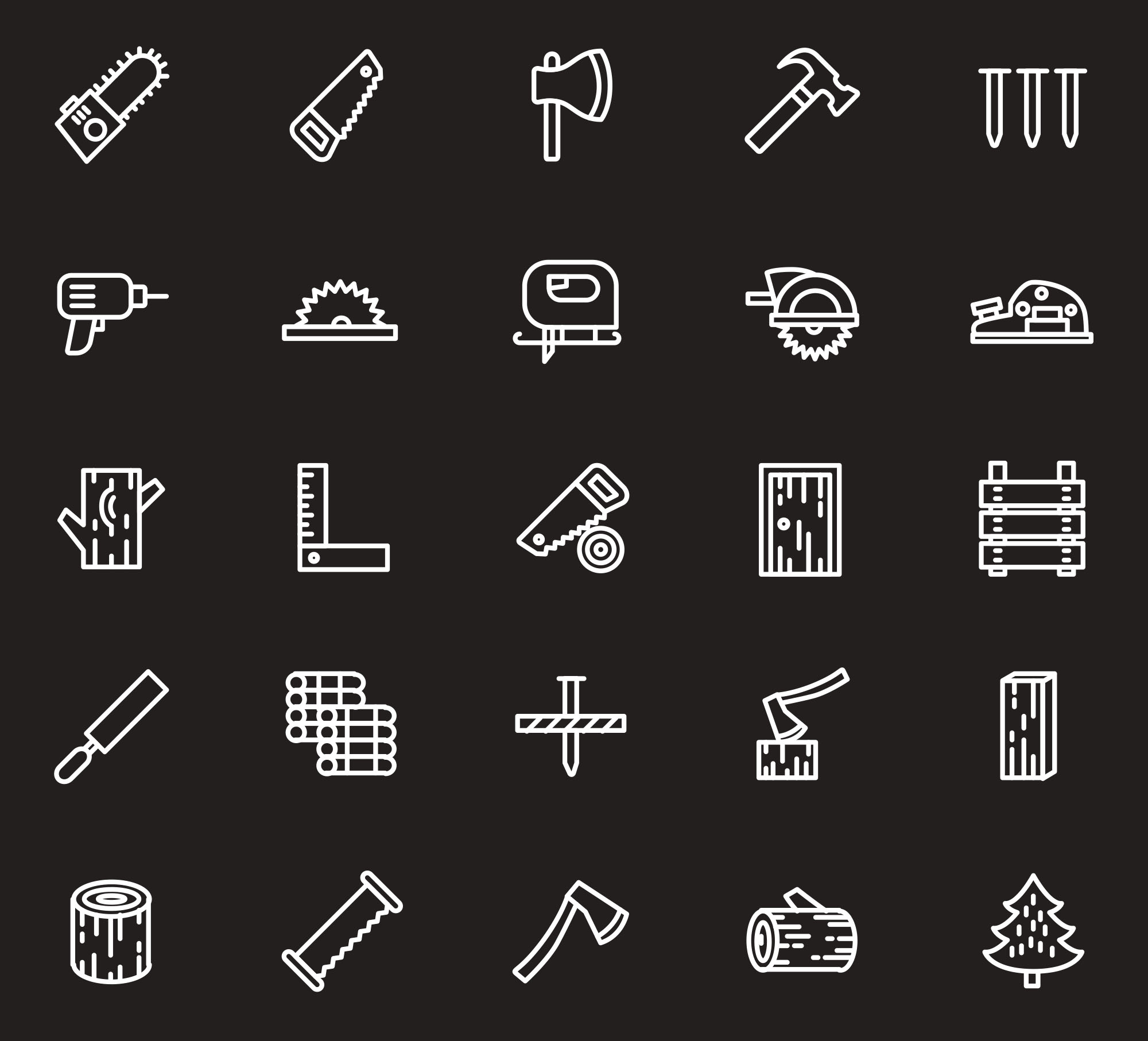 Woodwork Icons