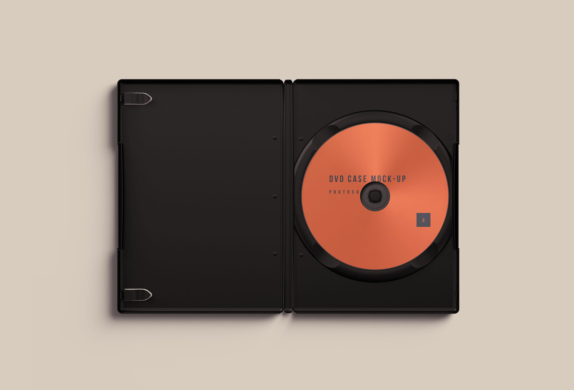 Opened DVD Case Mockup
