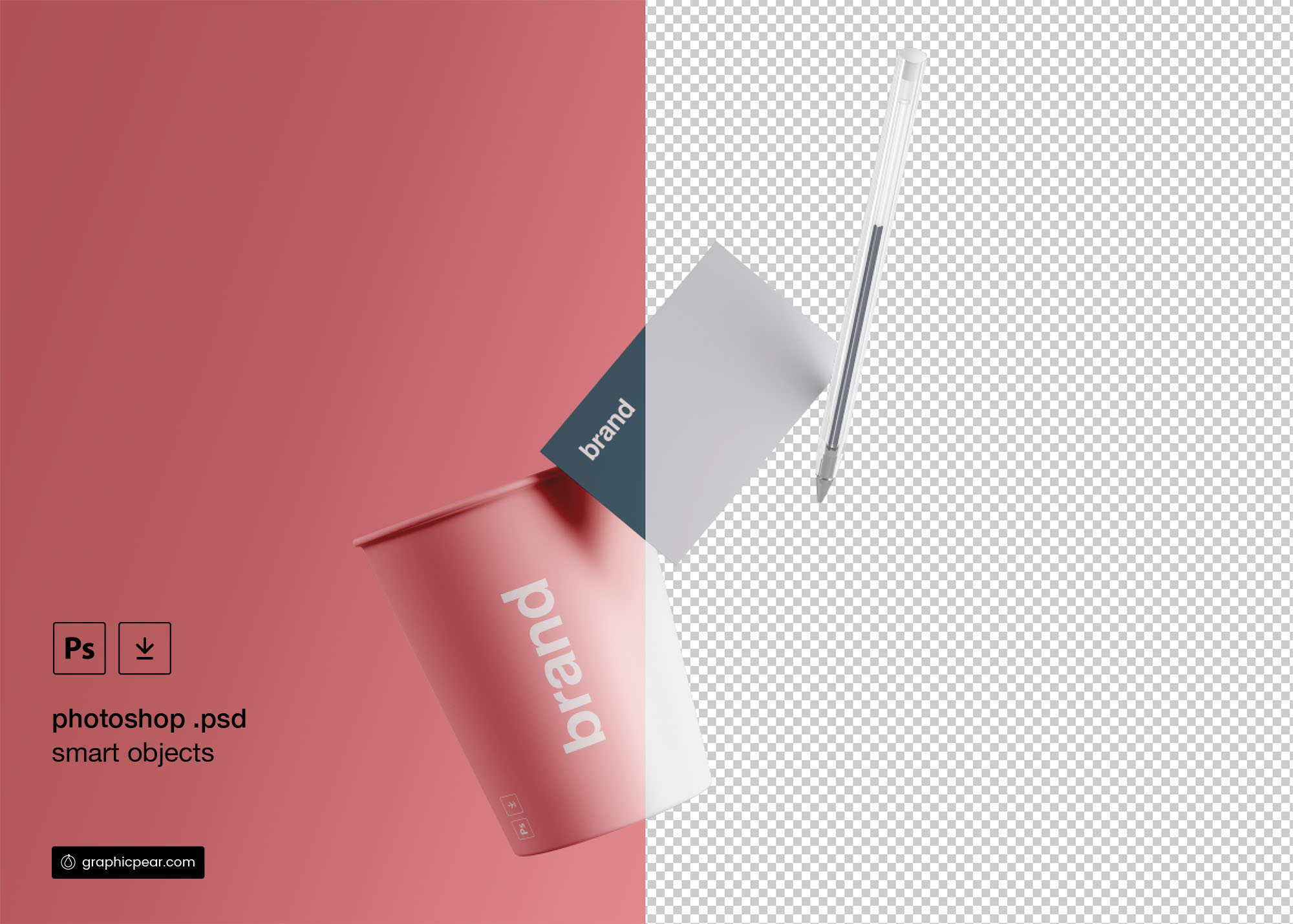 Cup & Business Card Branding Mockup