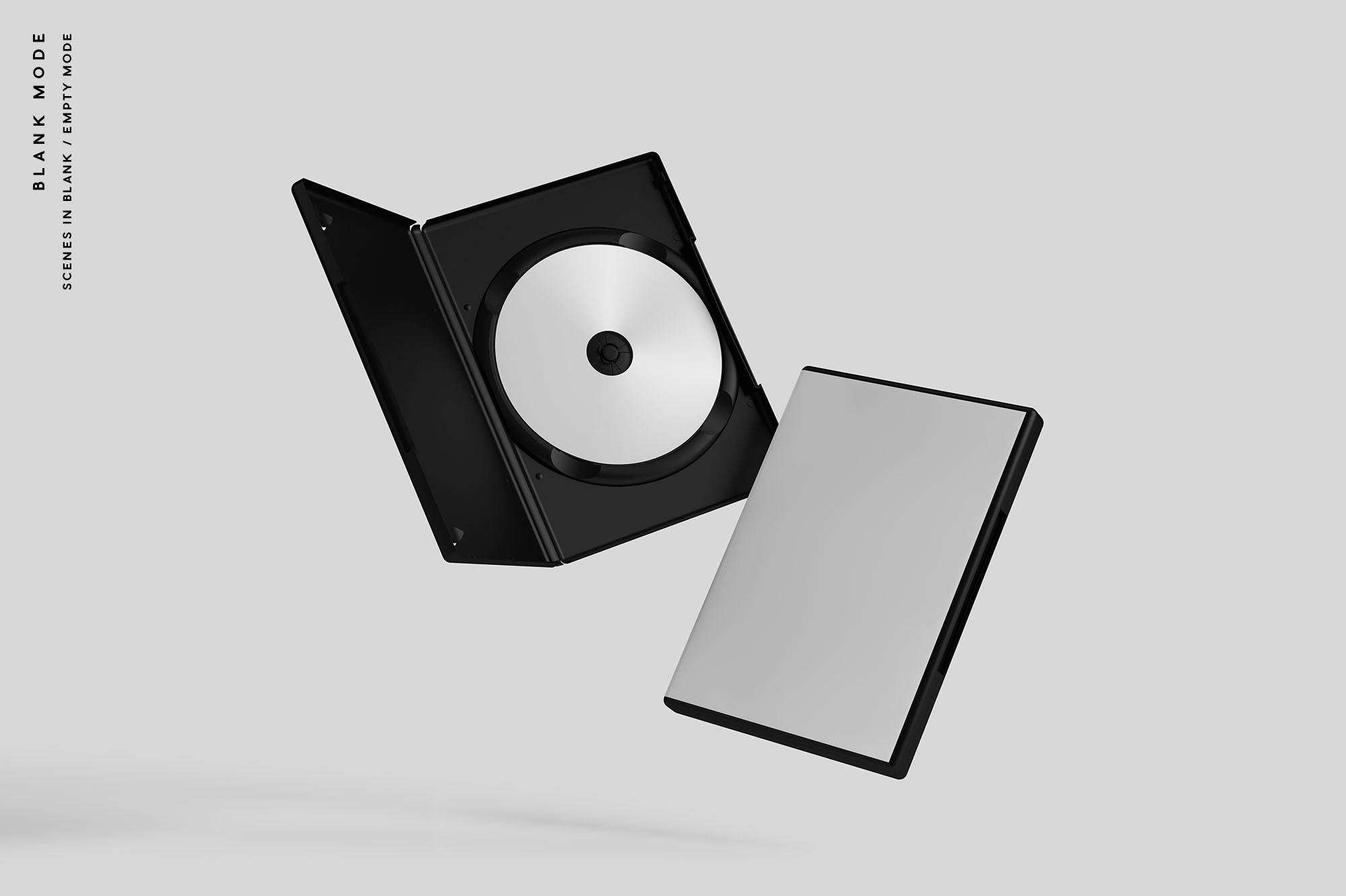 Blank DVD Case Mockup