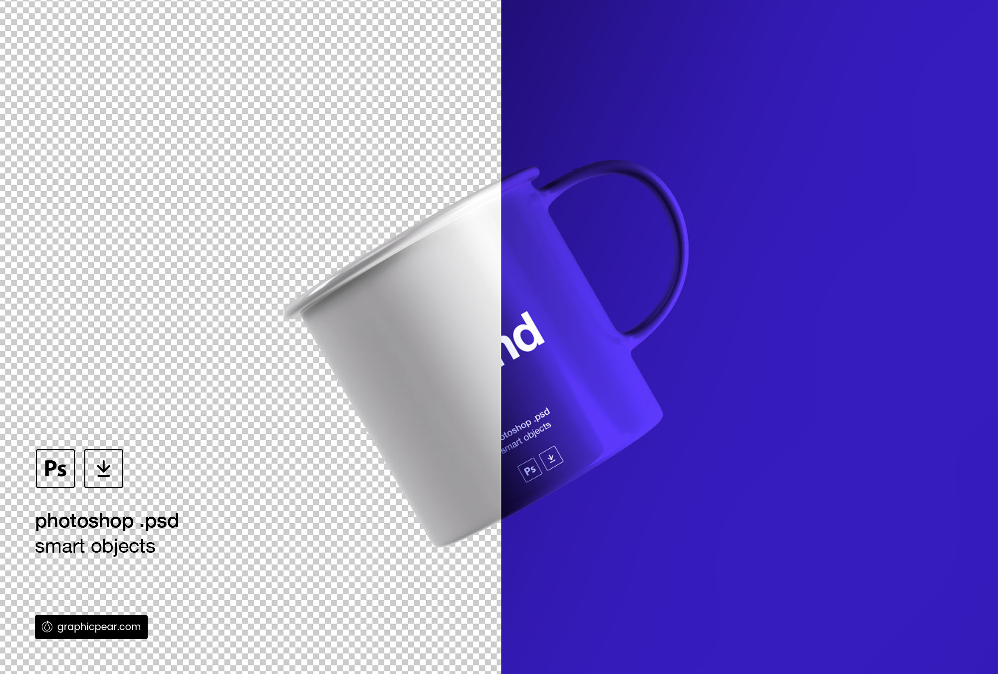 Floating Tea Cup Mockup