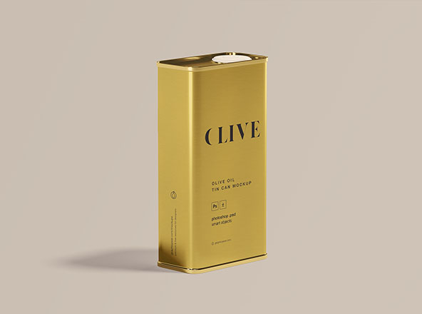Olive Oil Tin Can Mockup
