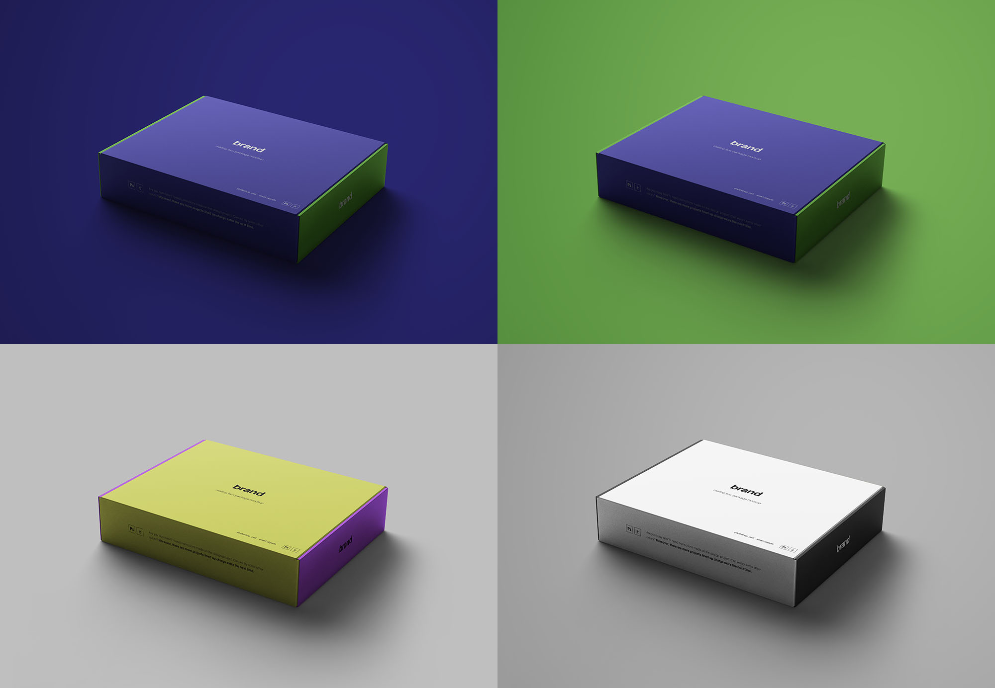 Package Boxes Mockup