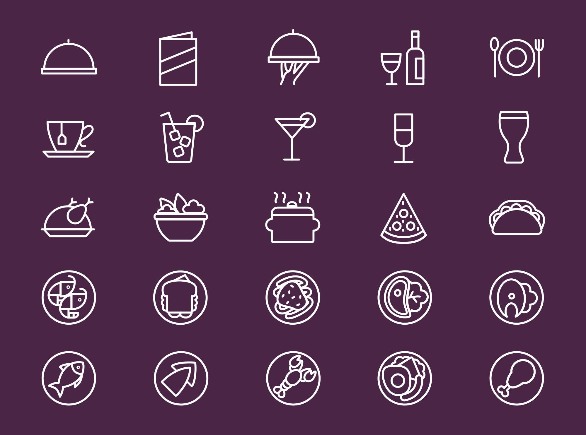 Restaurant Menu Icons