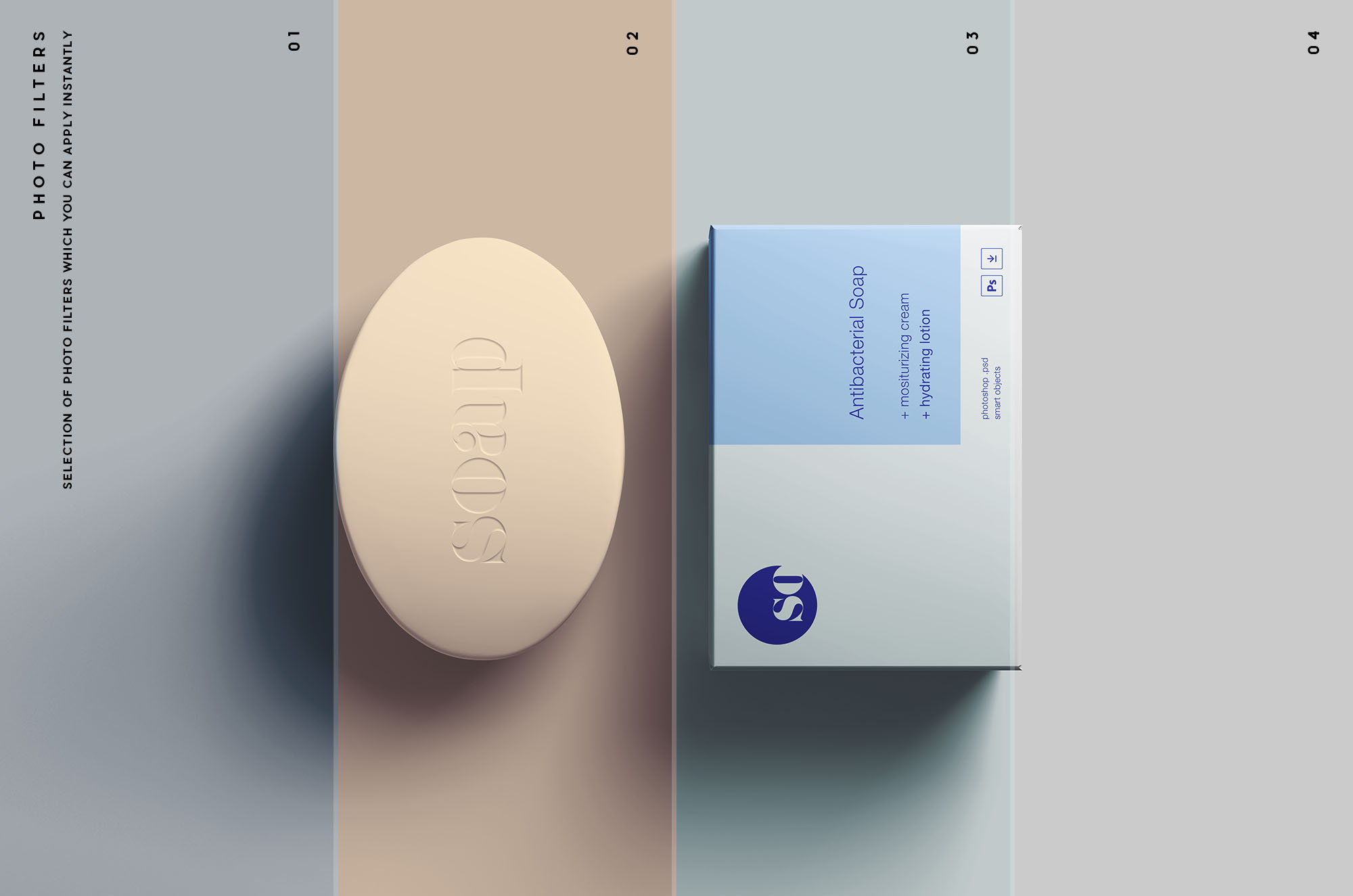 Soap Package Mockup - Photo Filters
