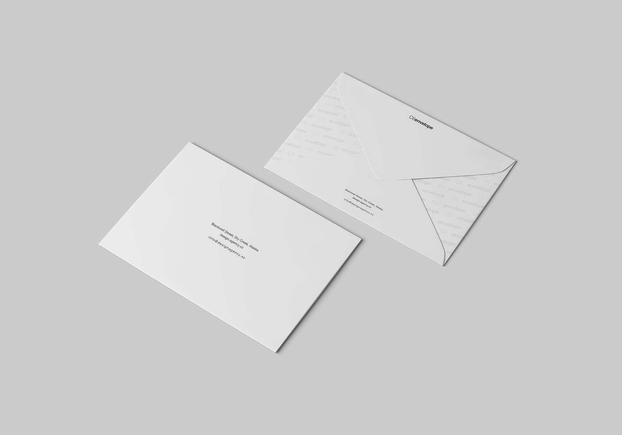 C6 Envelope Mockup