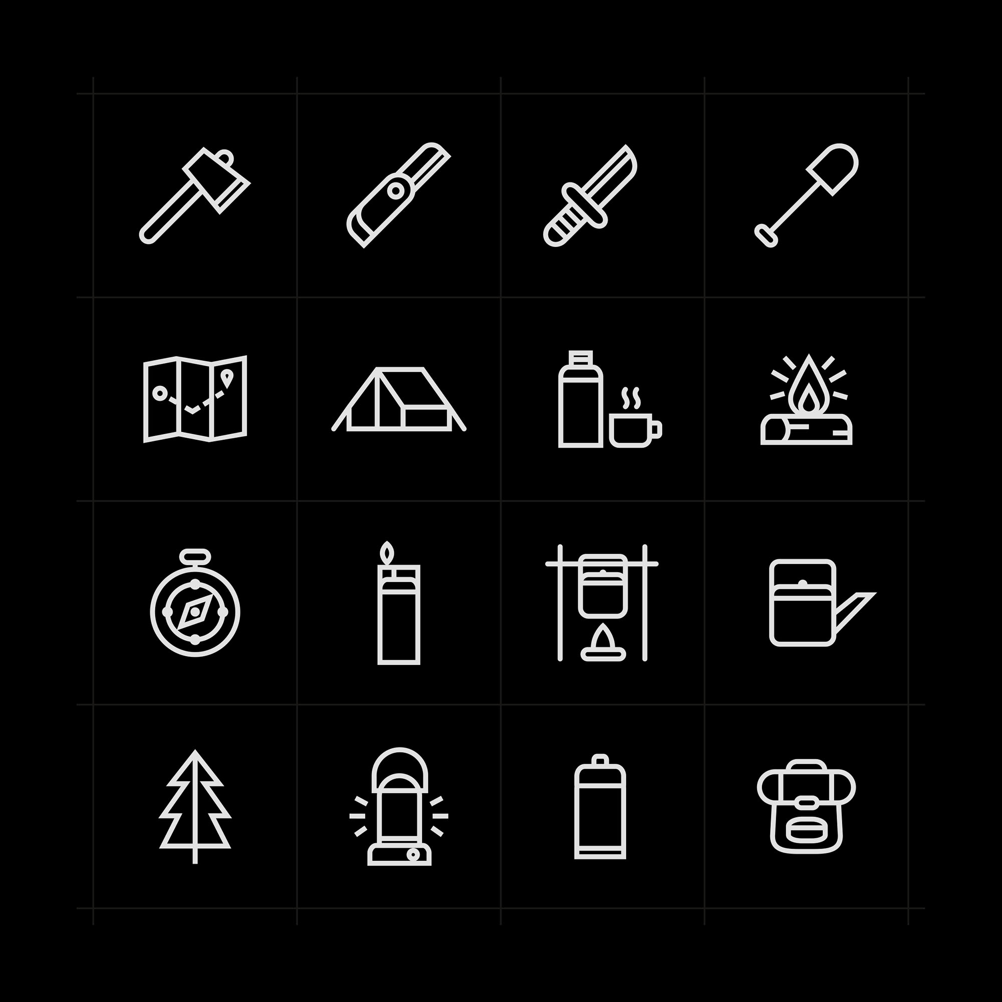 Adventure Icons Set - Dark