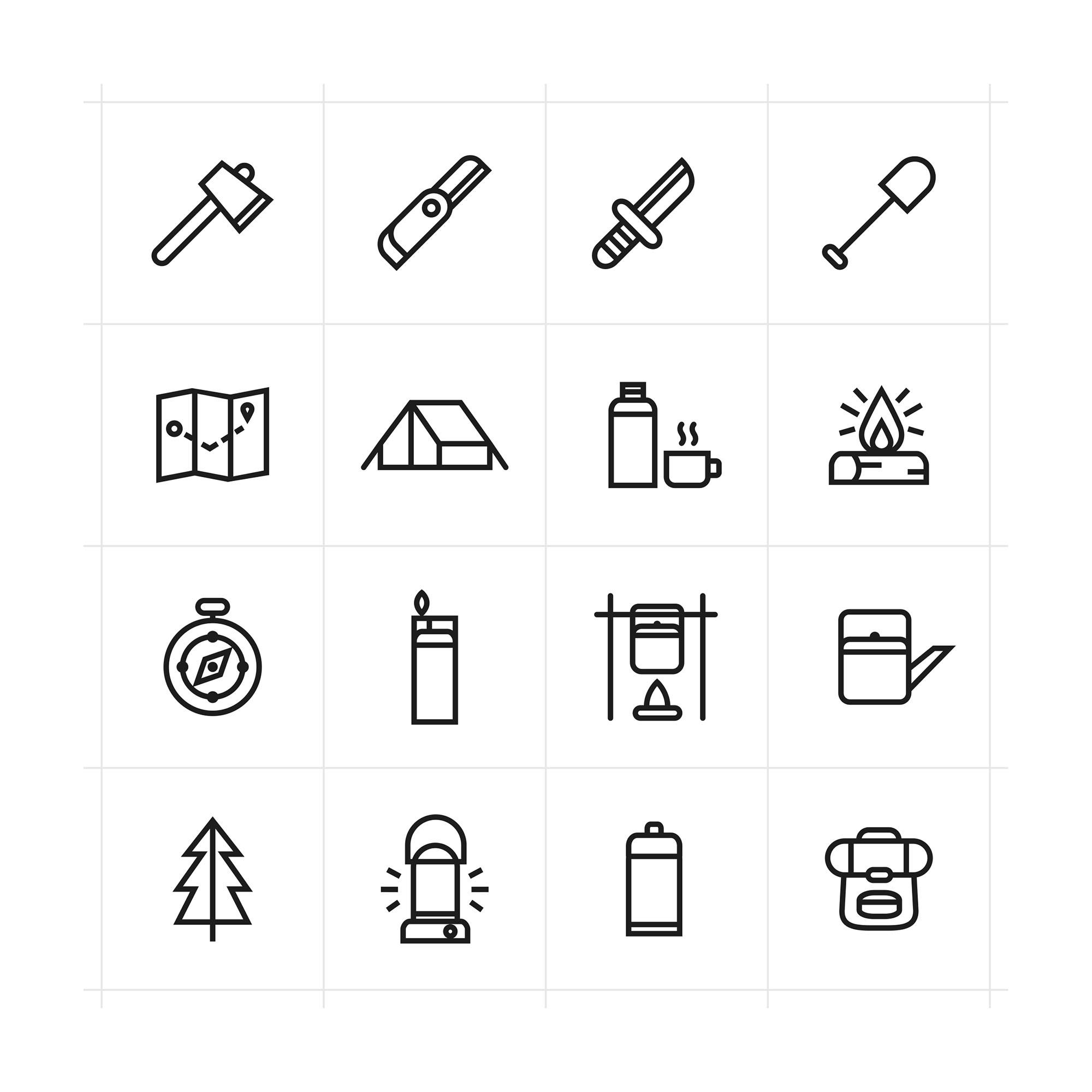Adventure Icons Set - Light