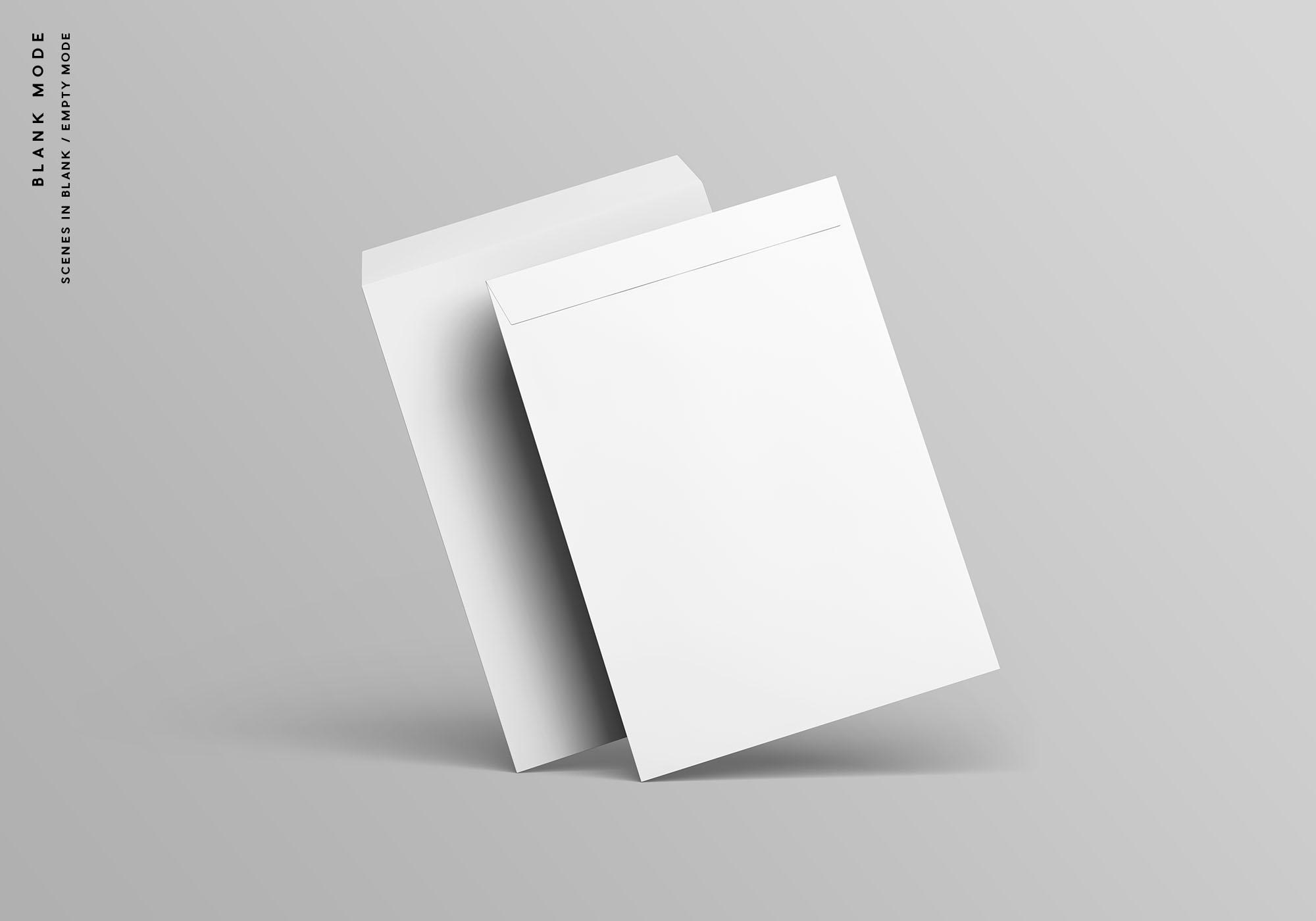 C4 Envelope Mockup - Blank Mode
