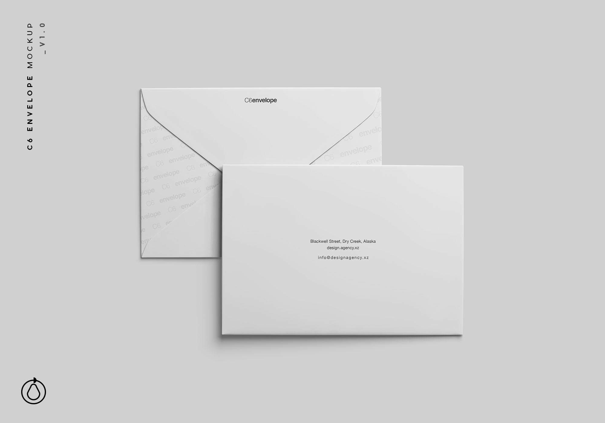 C6 Envelope Mockup PSD