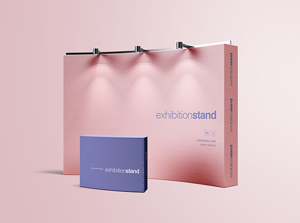 Simple Exhibition Stand Mockup : Vertical flyer mockup