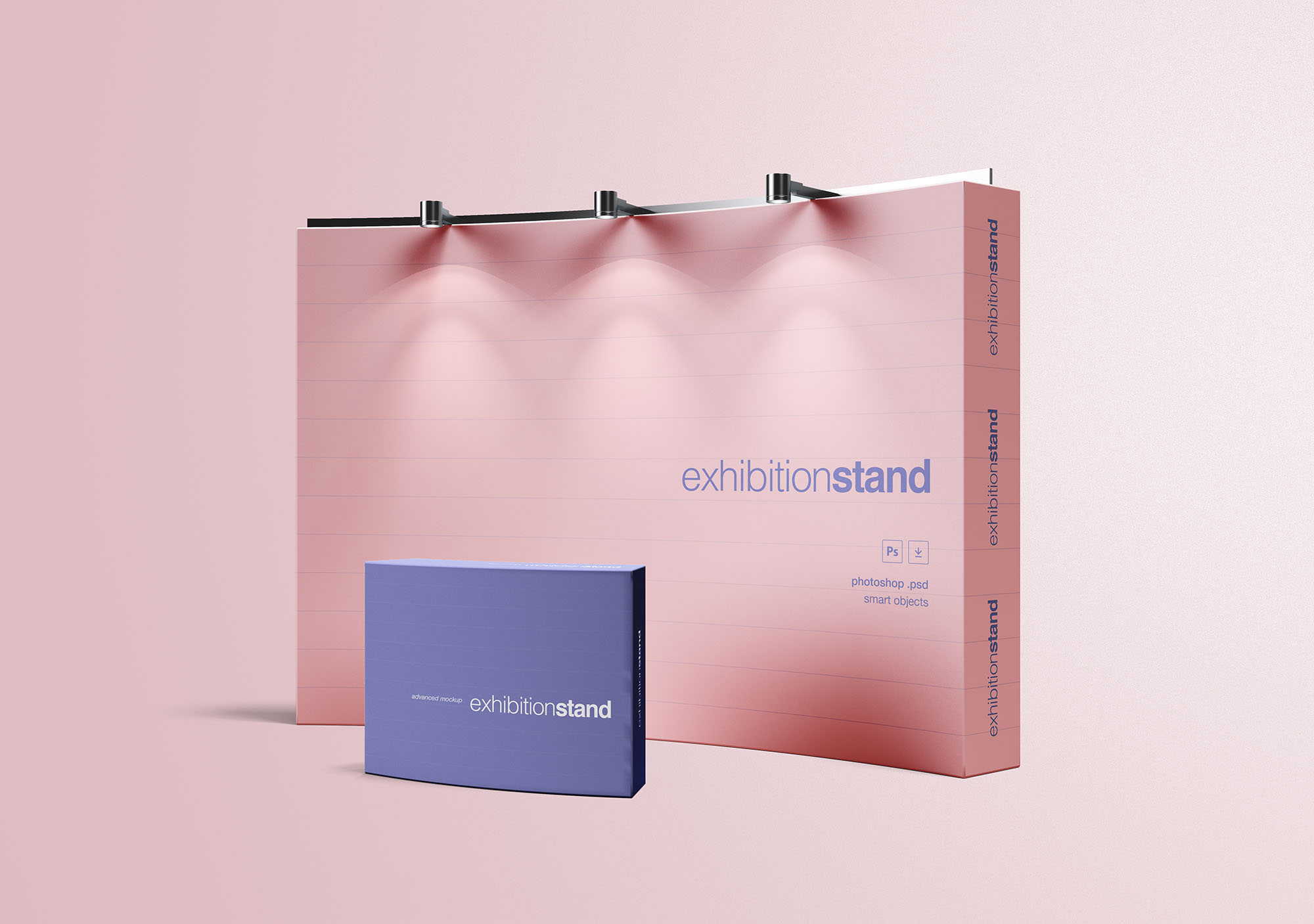 Exhibition Stand Free Vector : Simple exhibition stand mockup